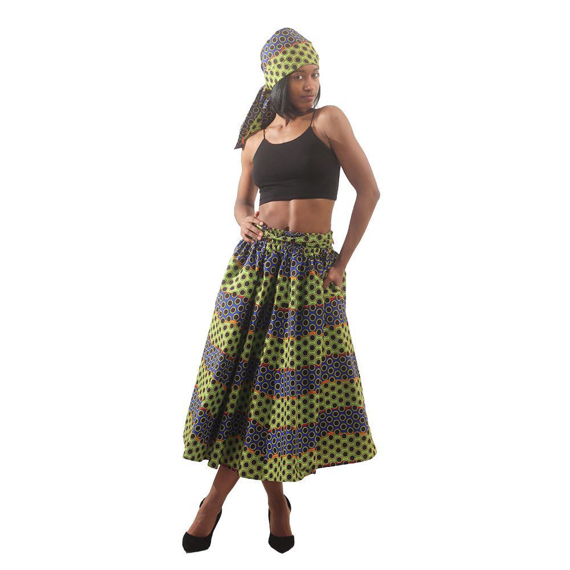 Picture of Multi-Color Dot Print Skirt