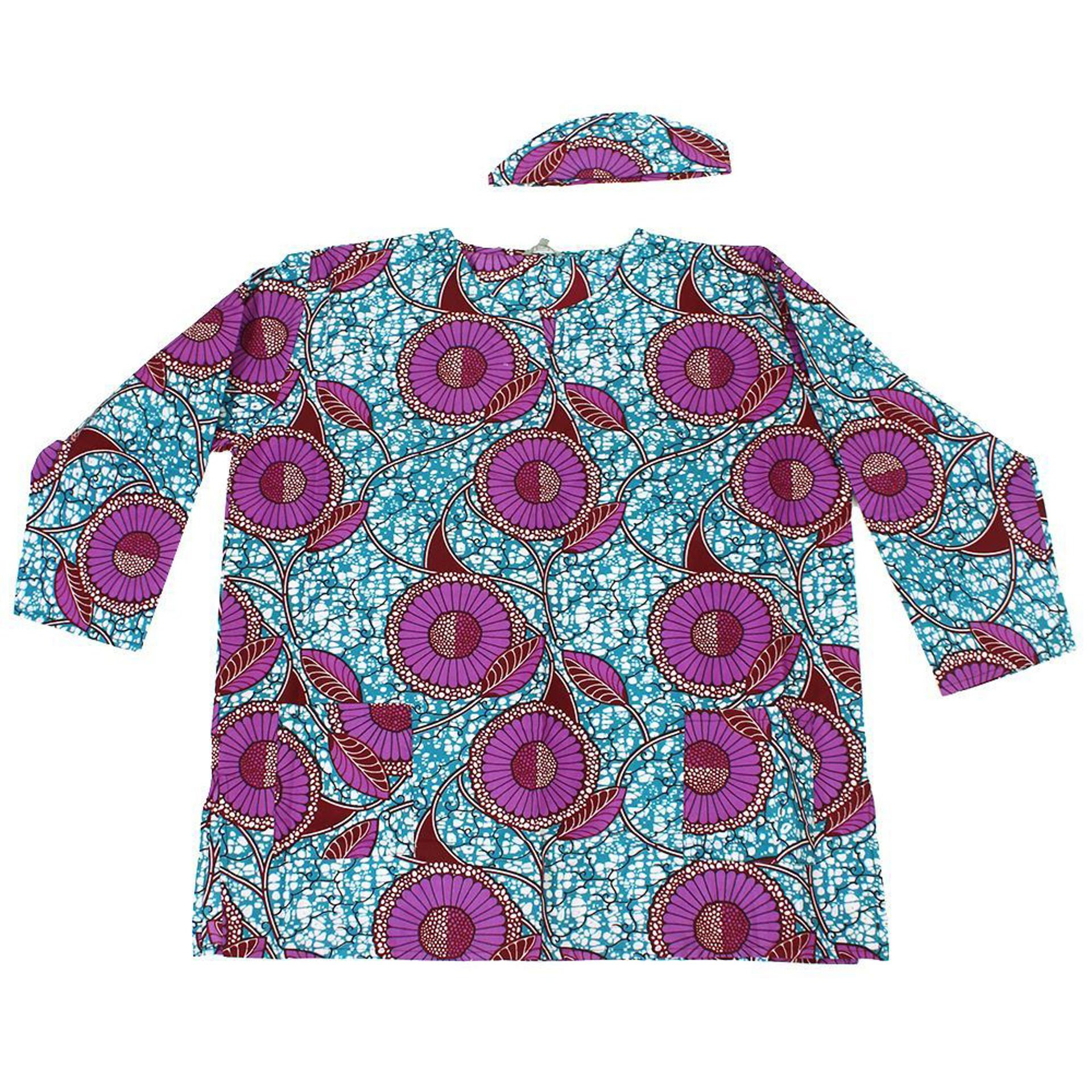 Picture of Long-Sleeve Floral Print Dashiki: Trquis