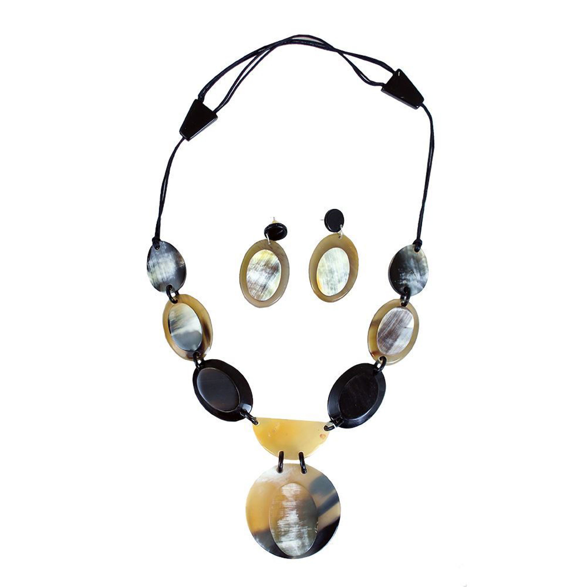 Picture of Horn Pendant Necklace Set