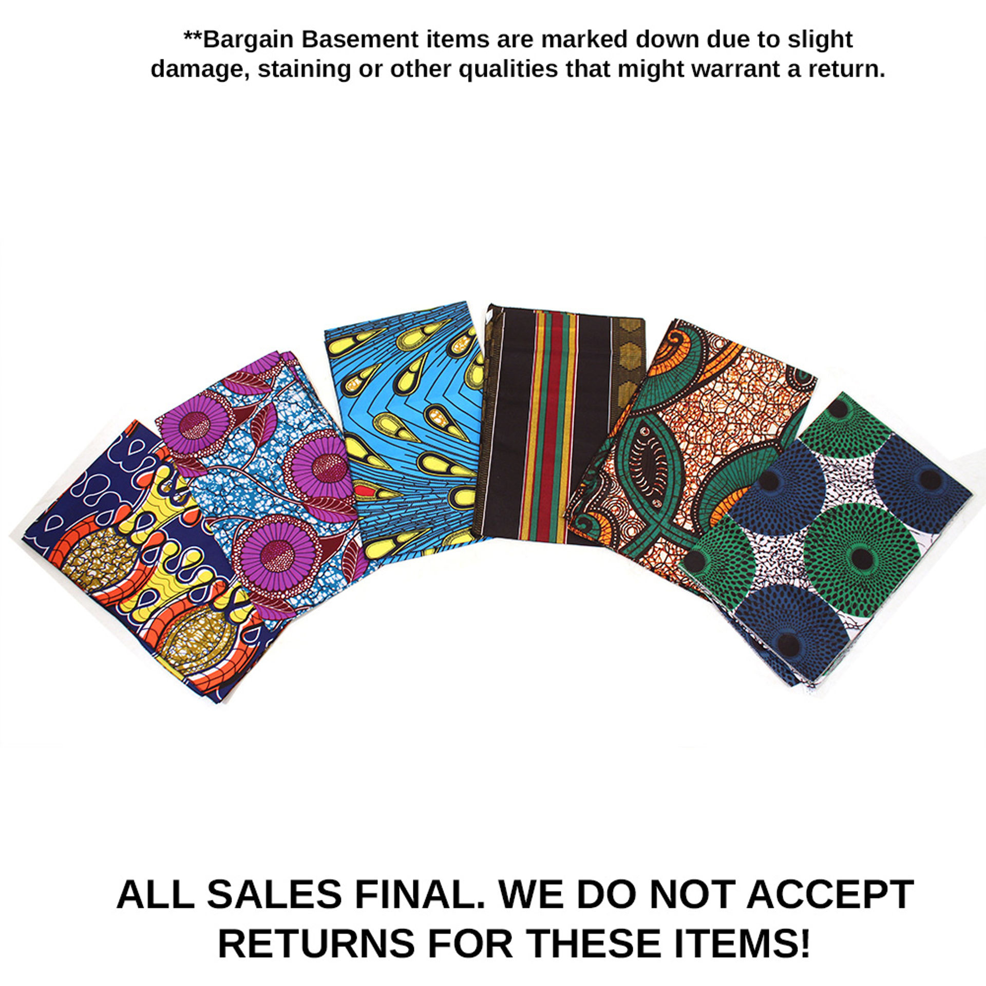 Picture of Set Of 6 DAMAGED Head Wraps - ASSORTED