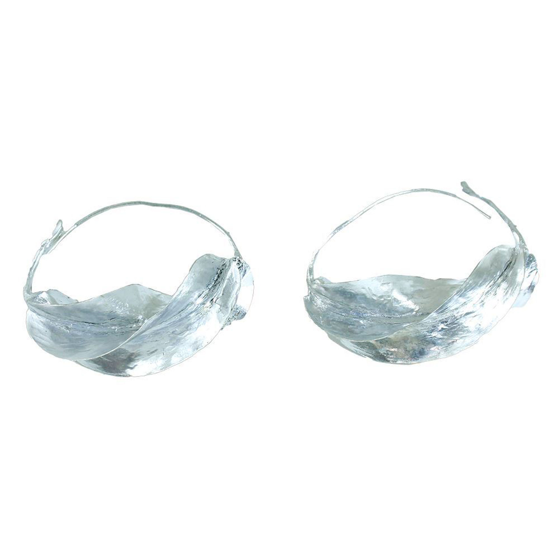 Picture of XL Over-Sized Fula Silver Earrings - 3""