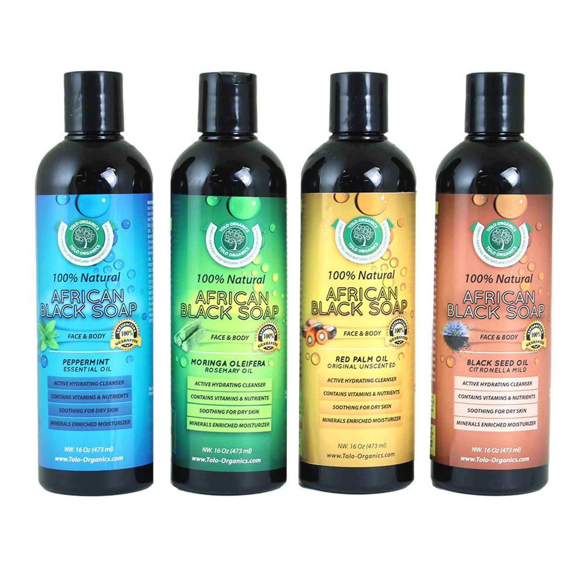 Picture of Set Of 4 Liquid African Black Soaps