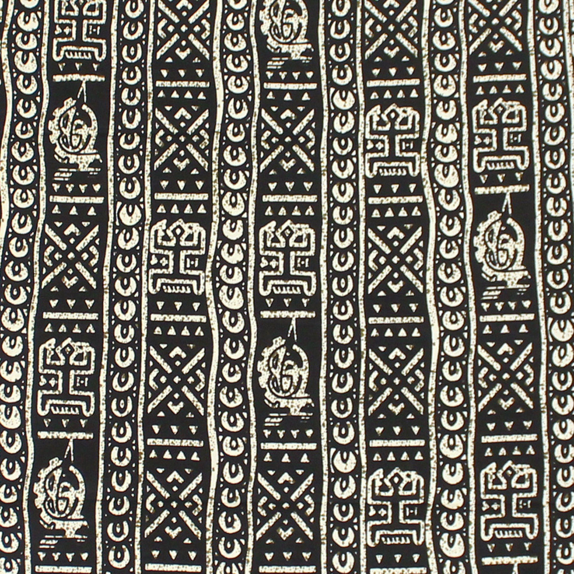 Picture of Black & Gray Dogon Print Fabric