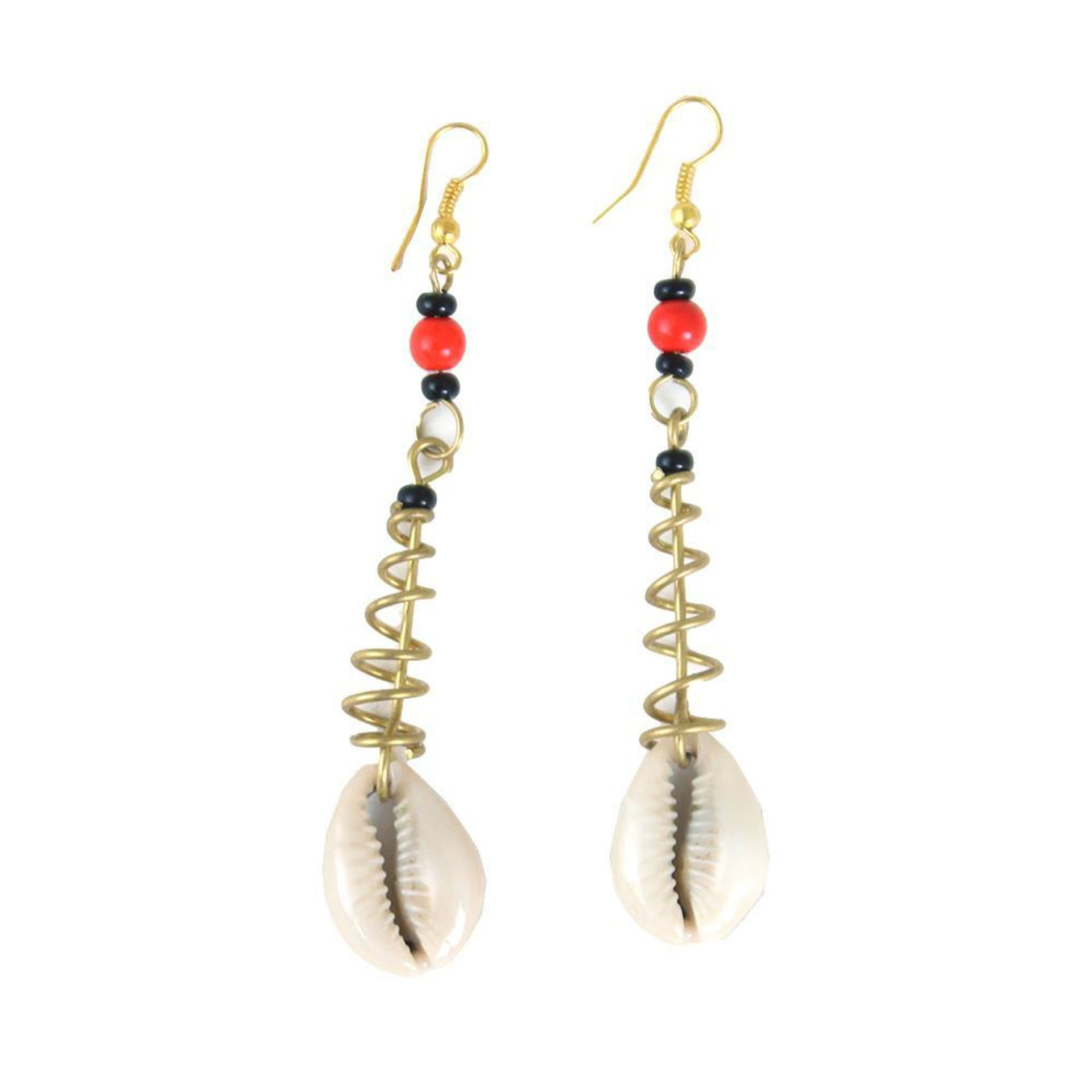 Picture of Cowrie Shell Spiral Earrings