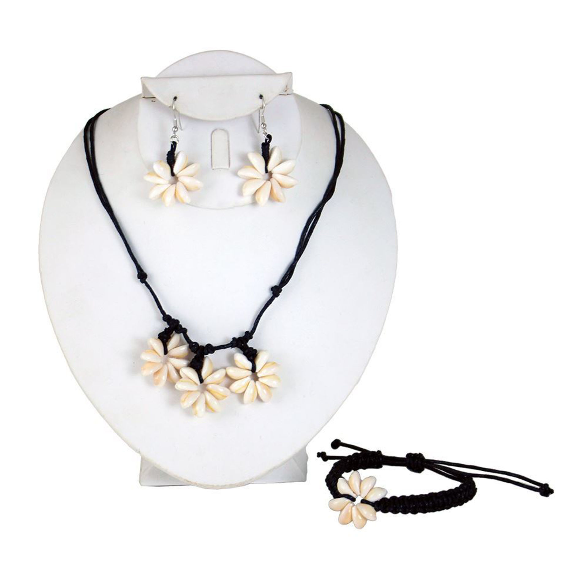 Picture of Floral Cowrie Shell Jewelry Set