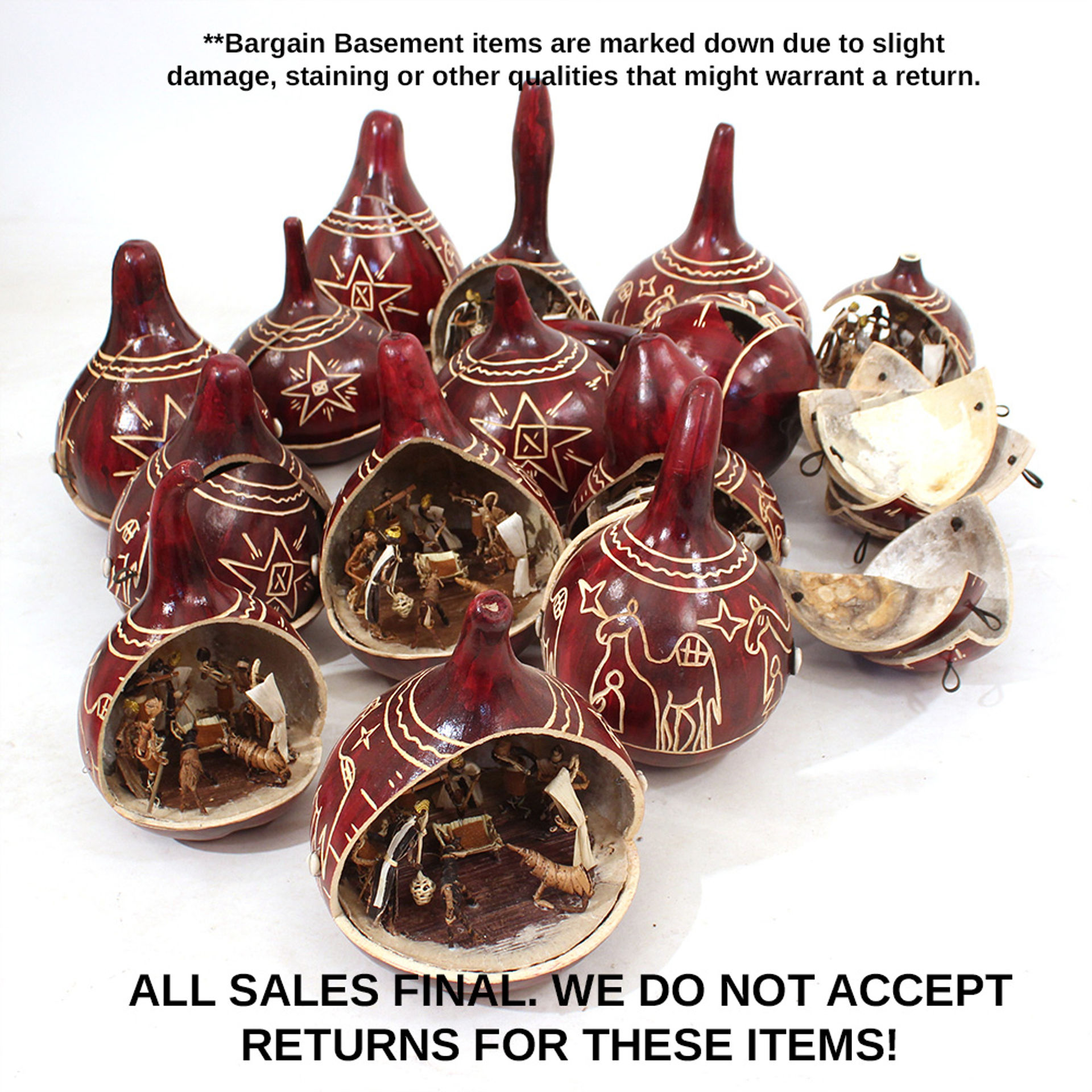 Picture of Assorted Nativity Gourds