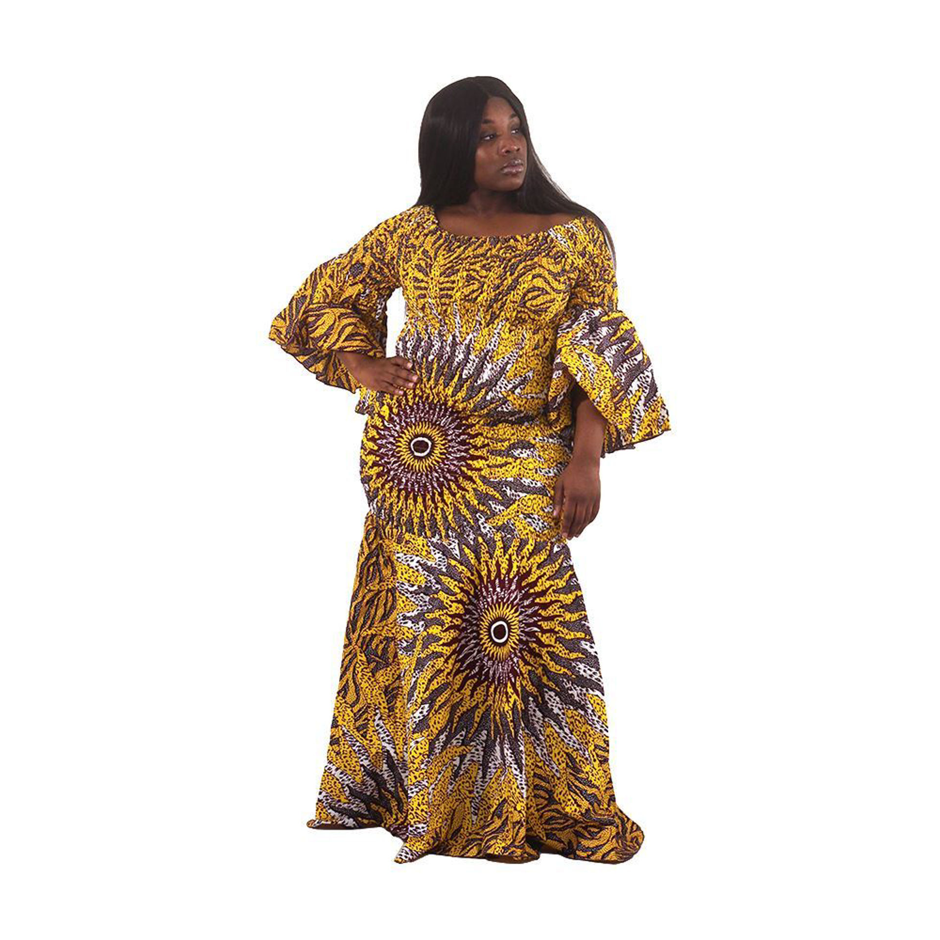 Picture of Yellow Sun Off-Shoulder Dress