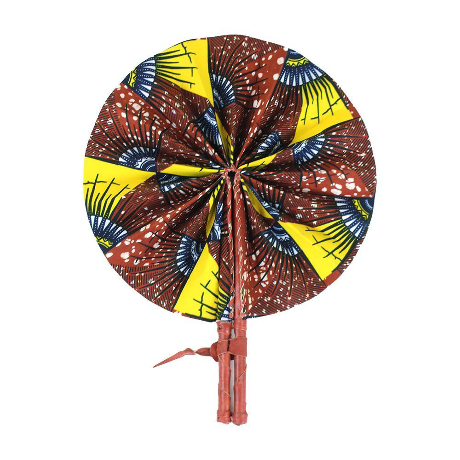 Picture of Brown African Print Folding Fan