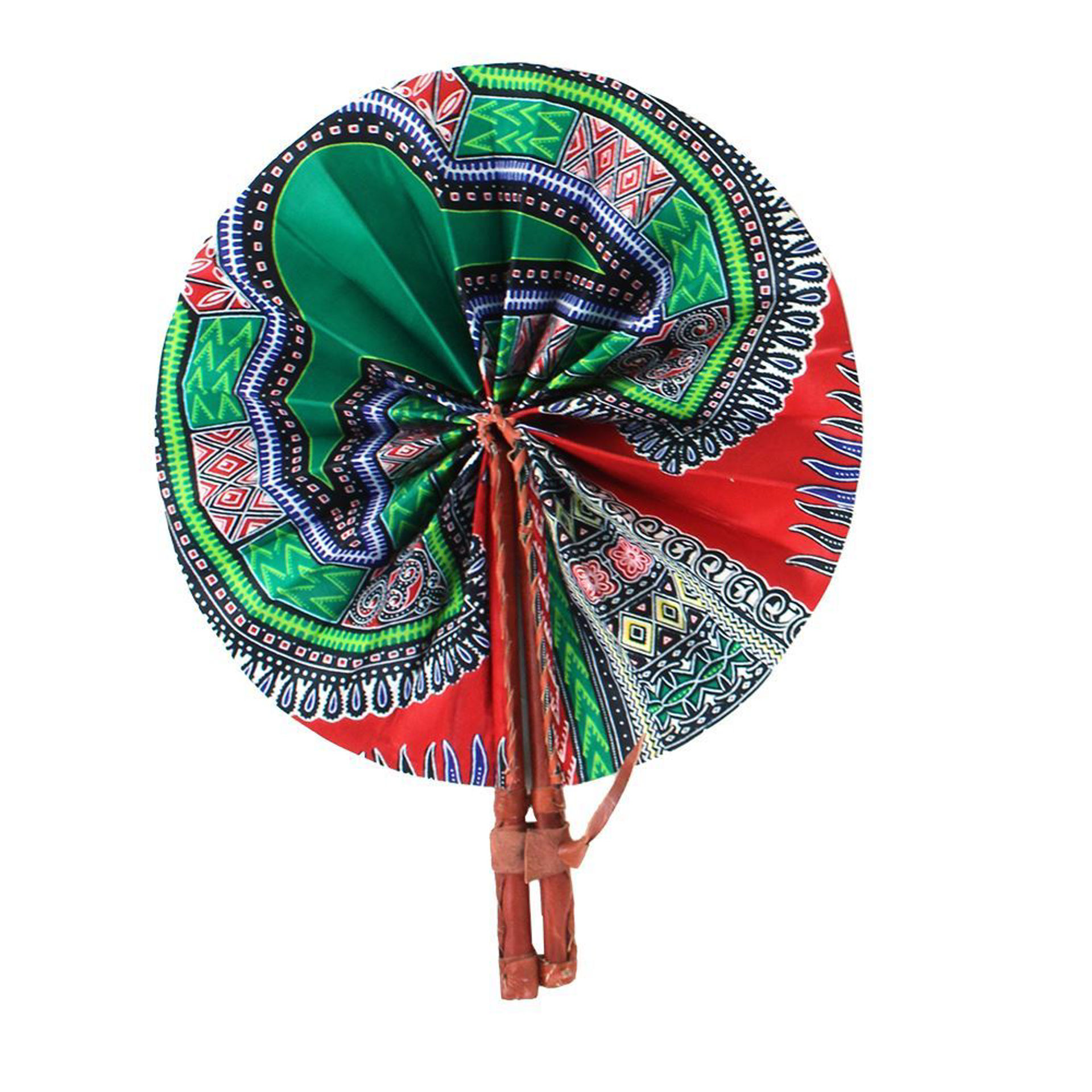 Picture of Red Traditional Print Folding Fan