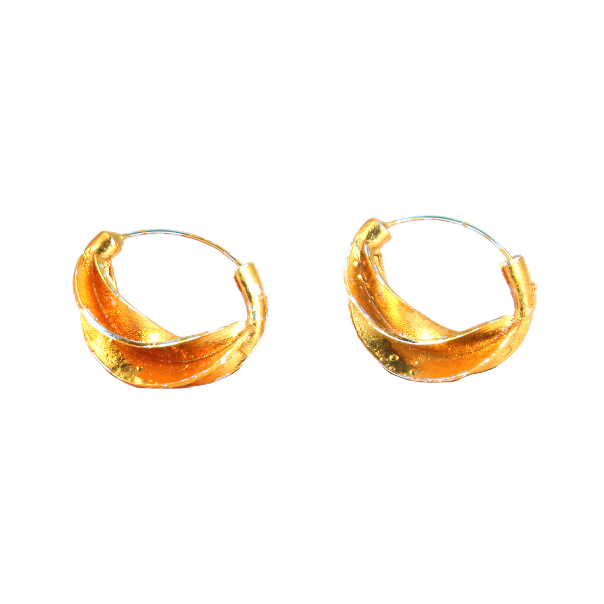 Picture of Rustic Warm Gold Earrings:set of 4 Pairs