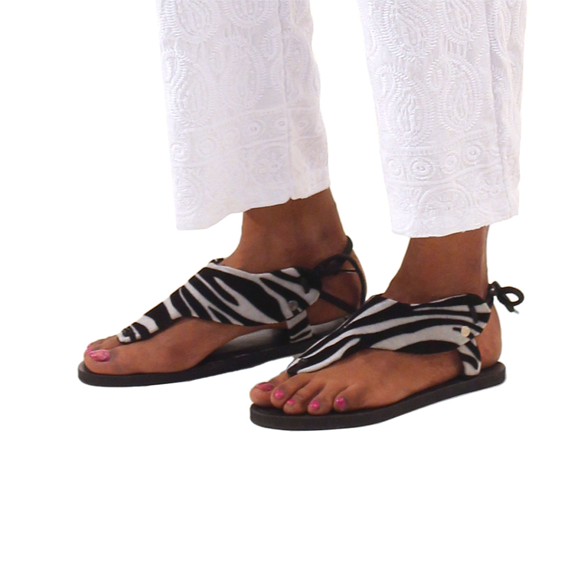 Picture of African-Made Zebra Sandals