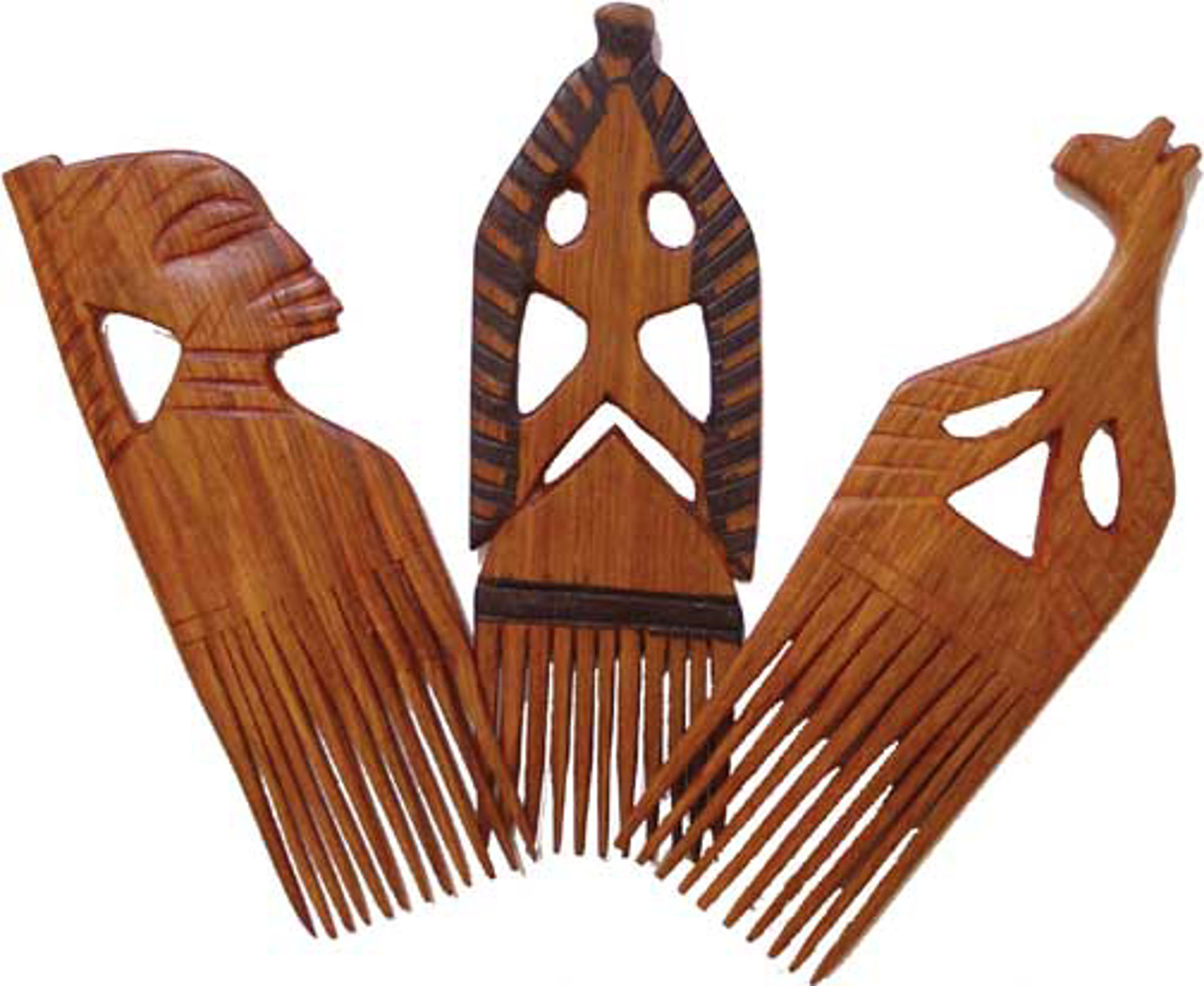 """Picture of Carved Wooden Comb 10"""" ASSORTED"""