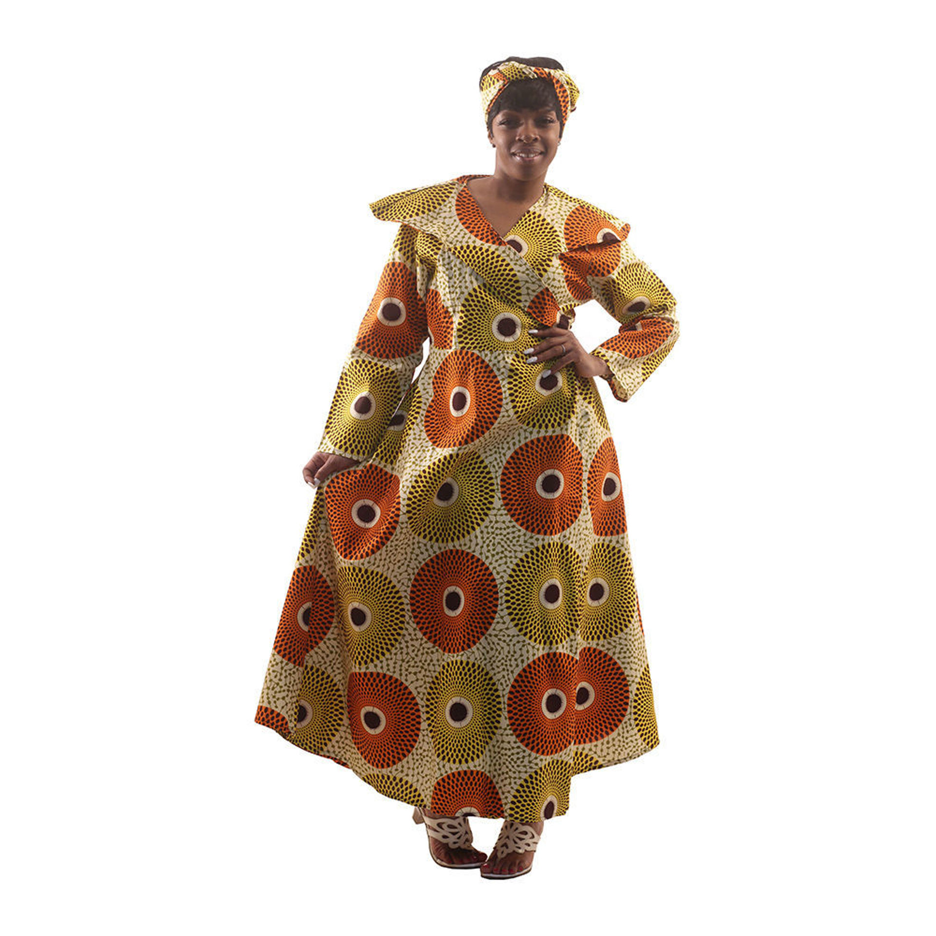 Picture of Circle Print Wrap Dress