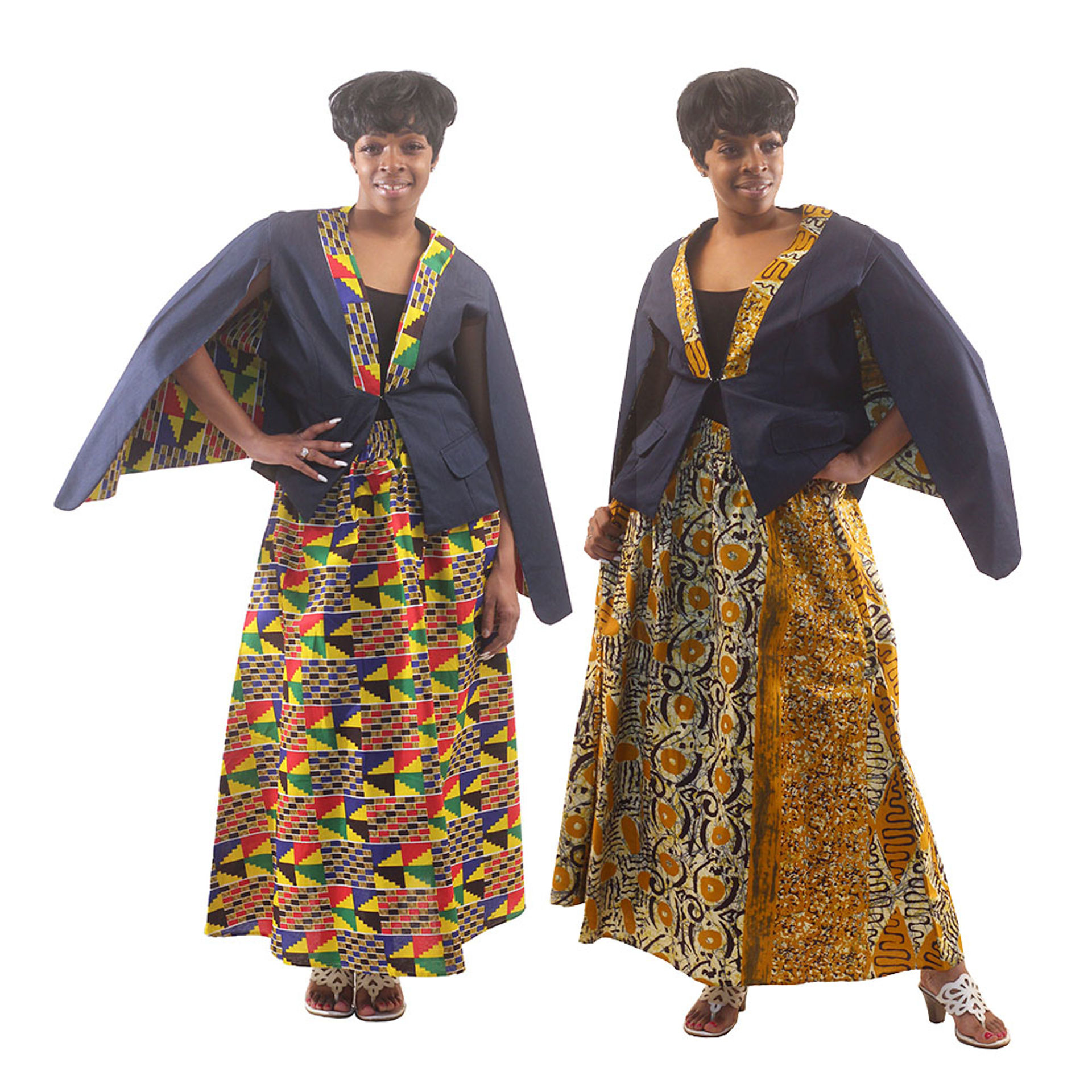 Picture of Denim Cape-Top & Skirt