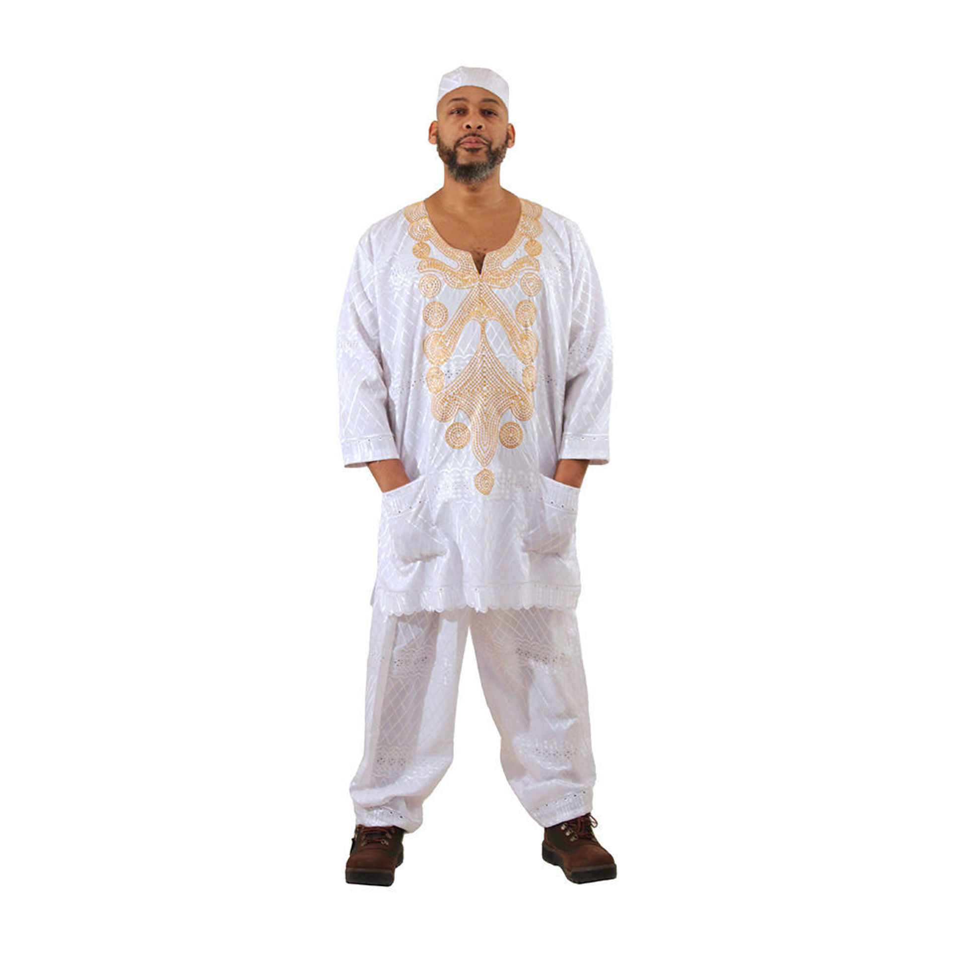 Picture of Men's Embroidered Lace Pant Set