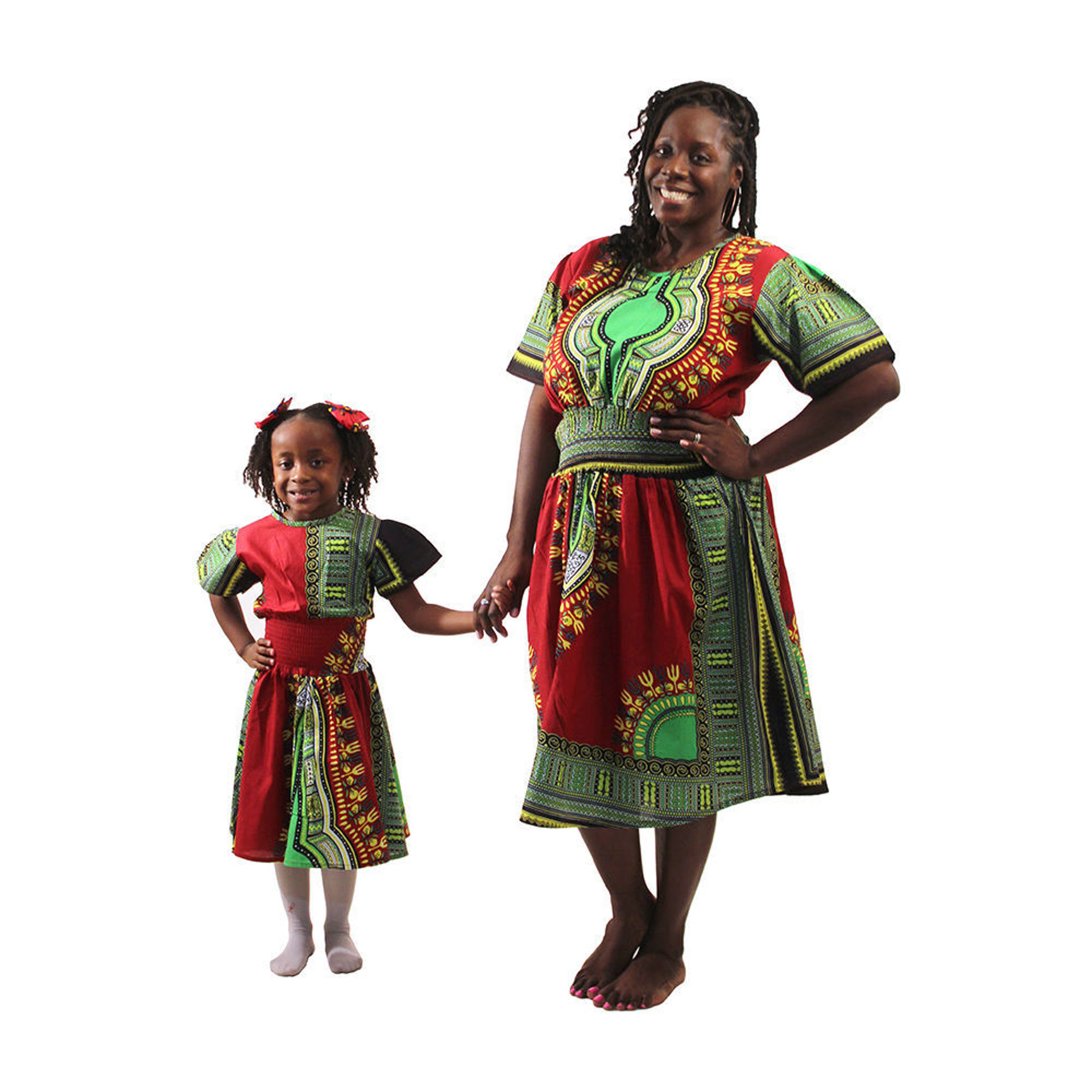 Picture of Trad Print Mother & Daughter Dresses