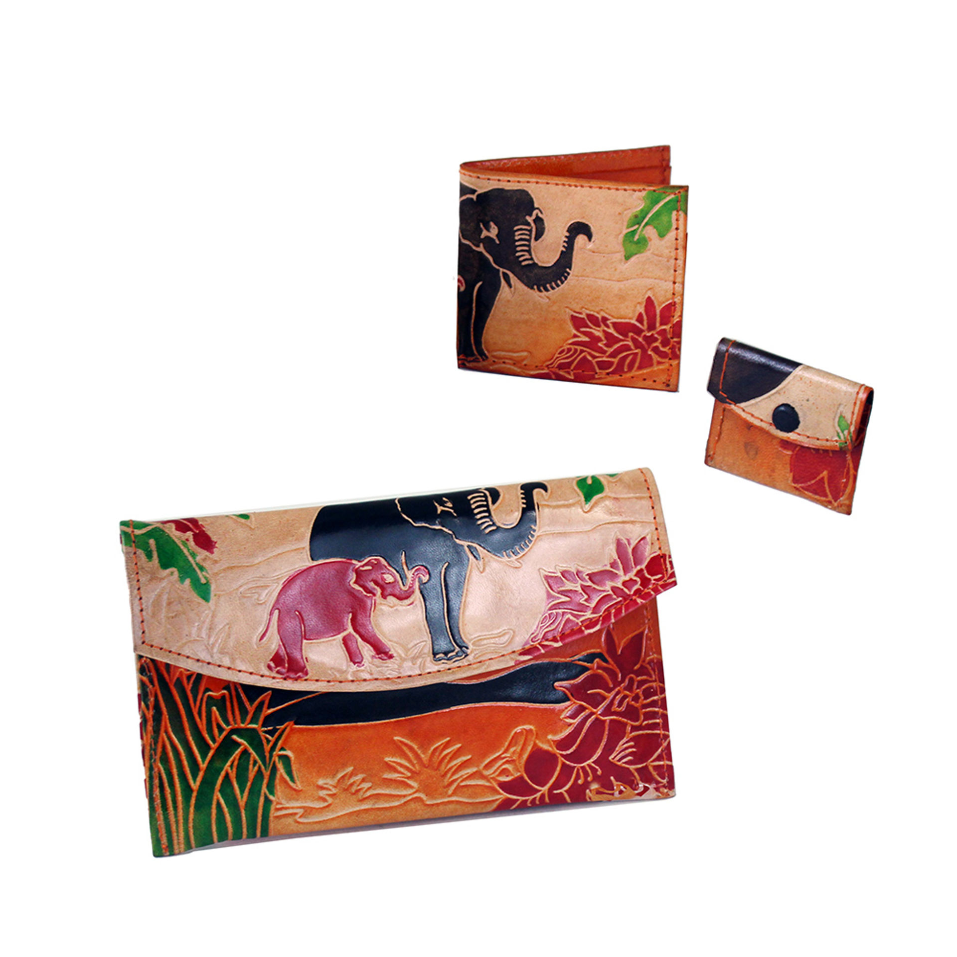 Picture of ASSORTED Leather Elephant Wallet - LG