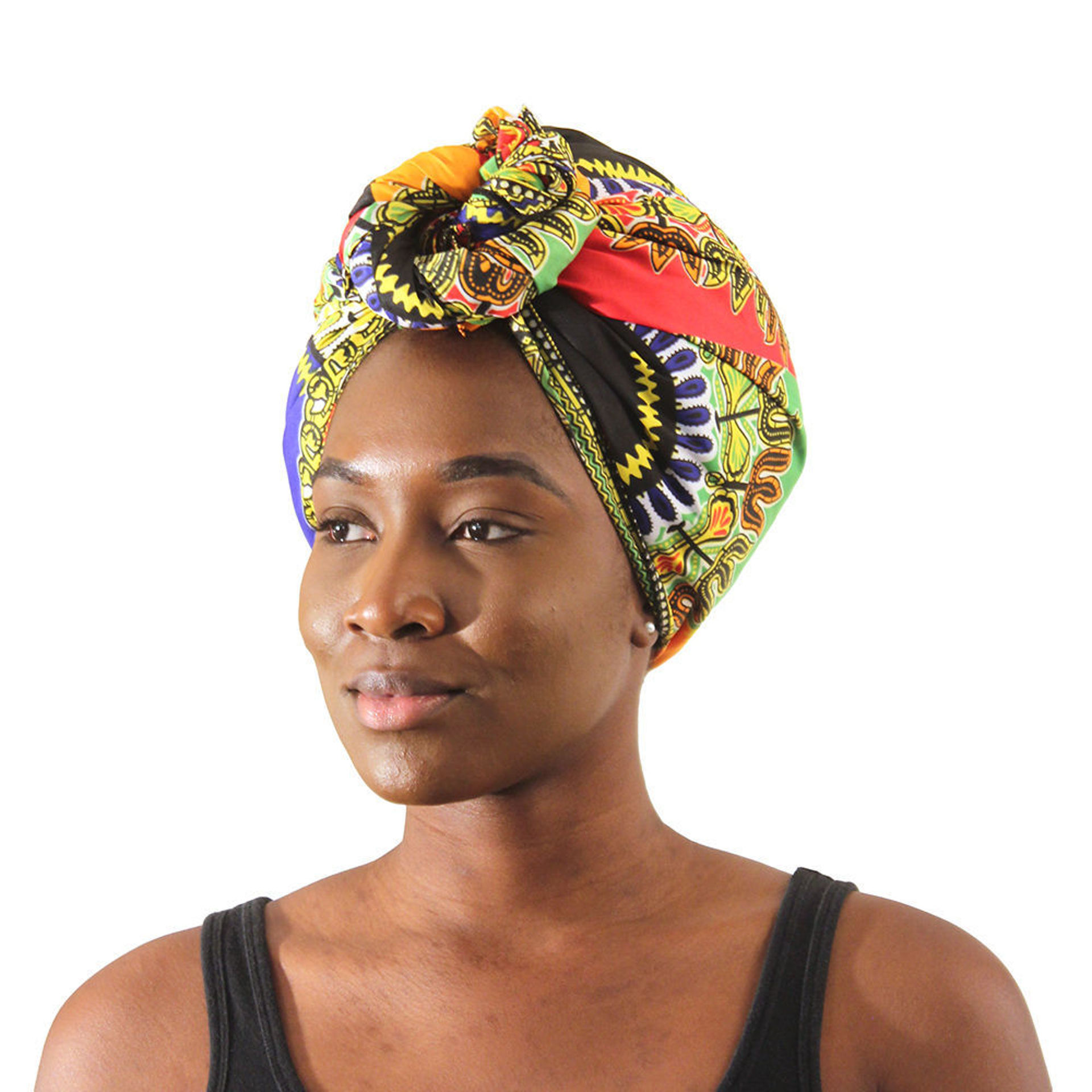 Picture of Traditional Patchwork Print Head Wrap