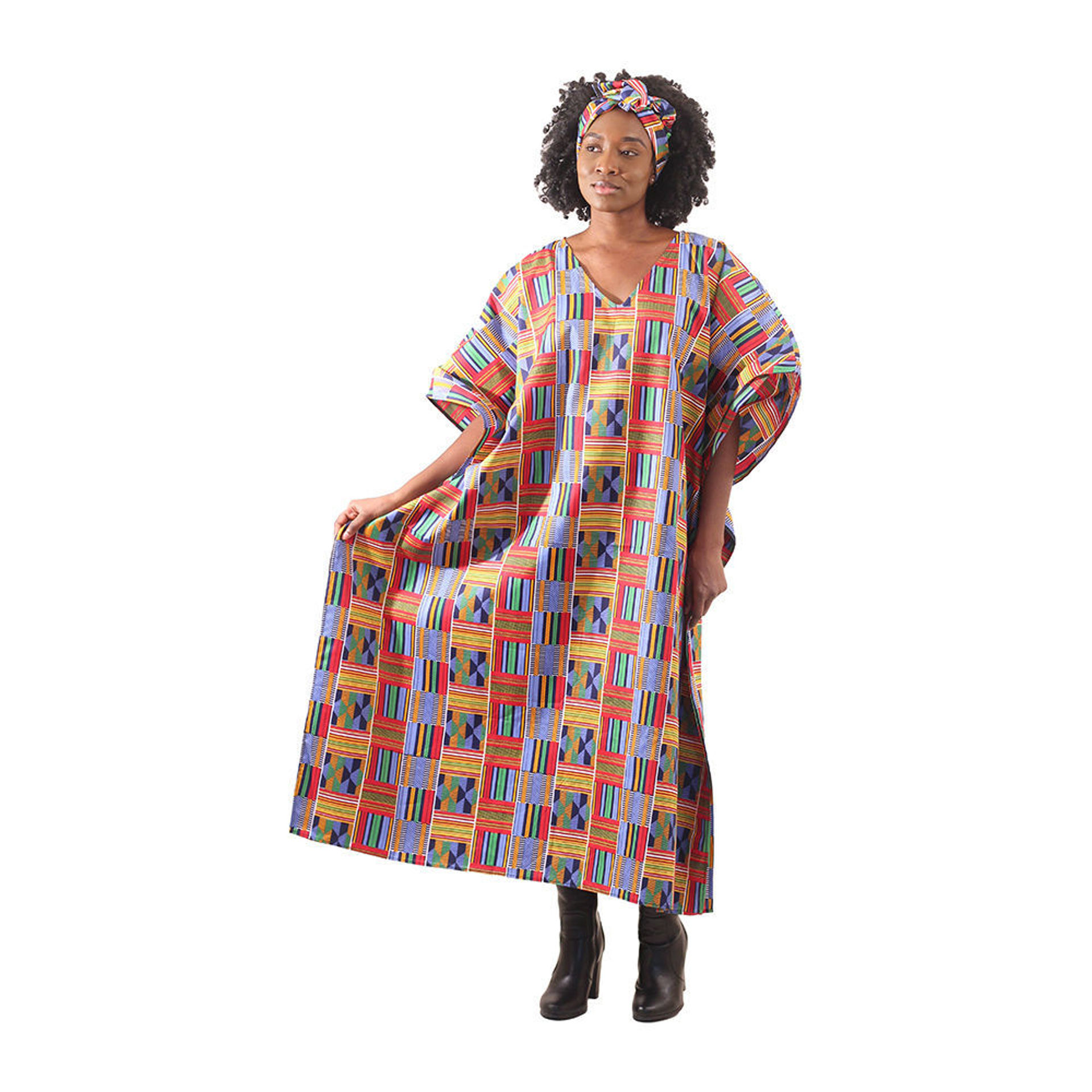 Picture of Red/Blue Kente Kaftan