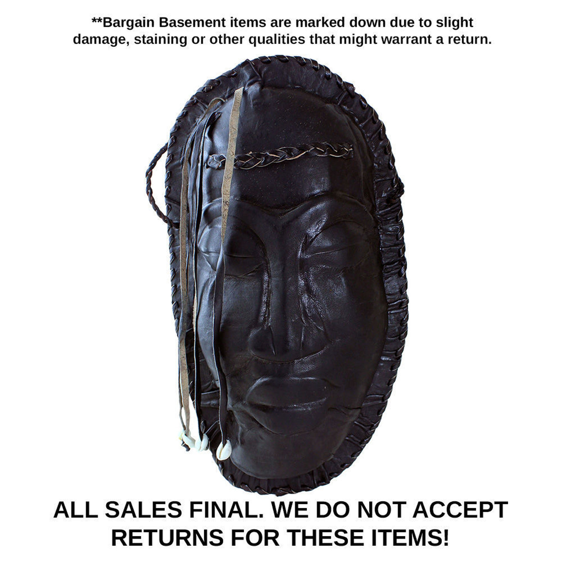 Picture of DAMAGED Black Mask Leather Purse
