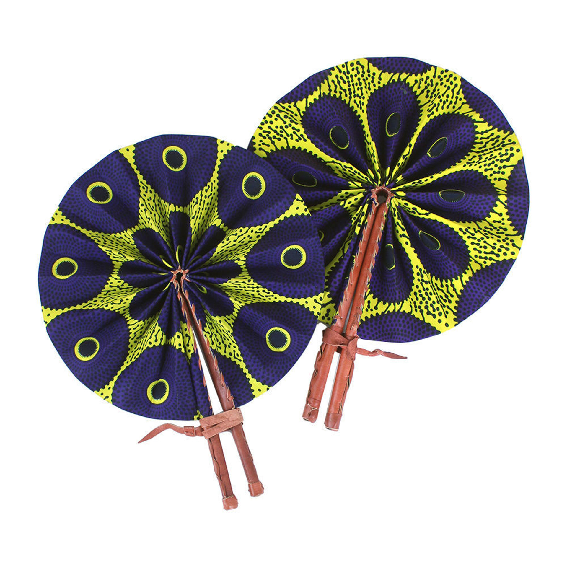 Picture of Purple/Yellow Circle Print Fan