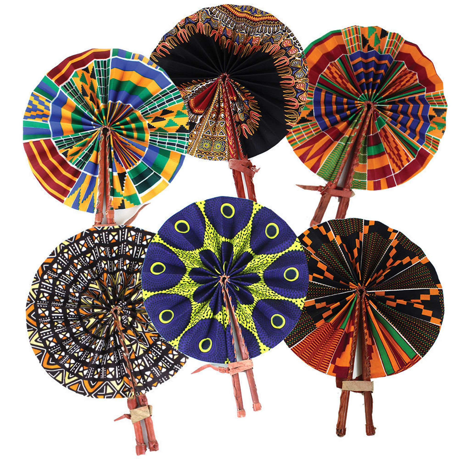 Picture of Set Of 6 African Folding Fans