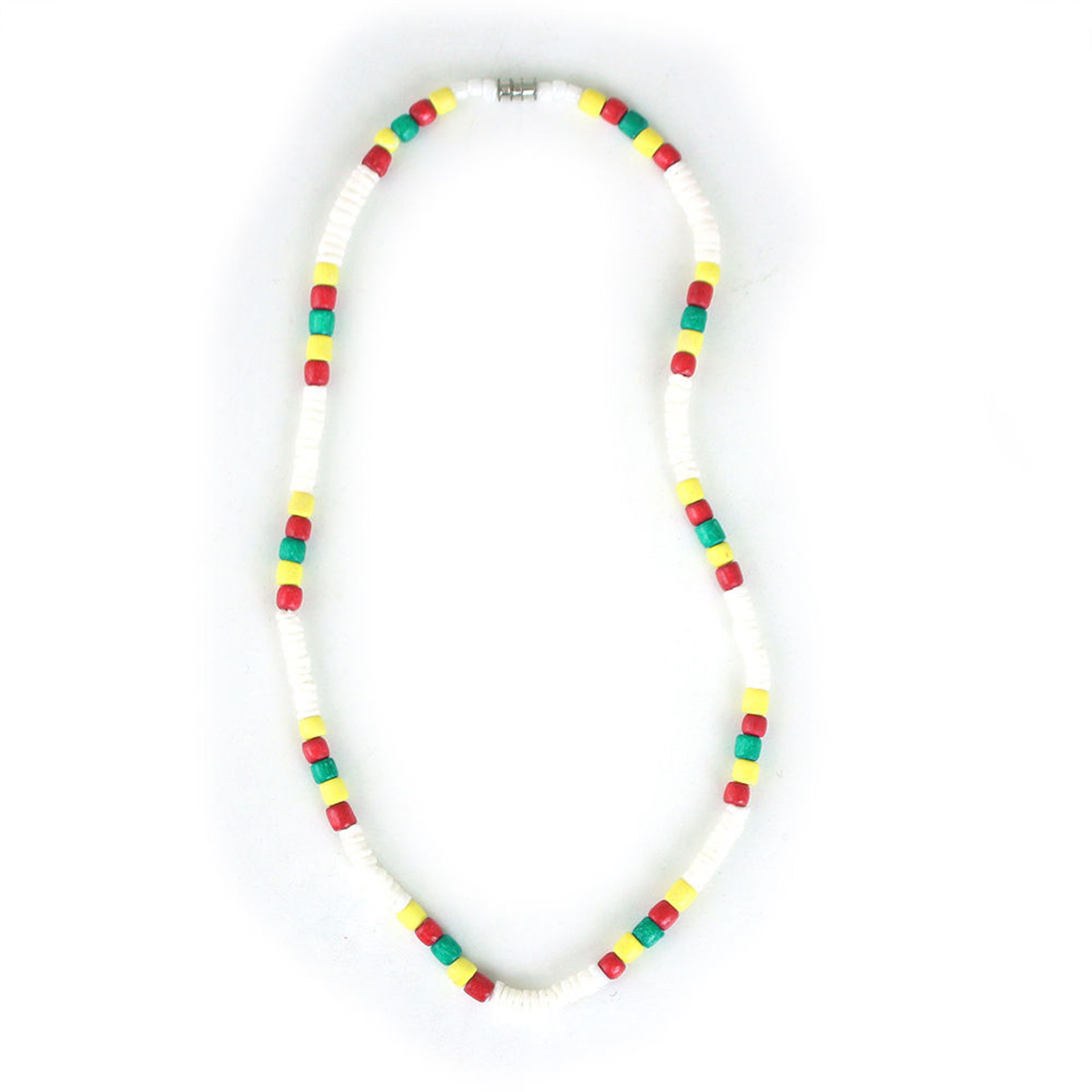Picture of Set Of 12 White Bead Rasta Necklaces