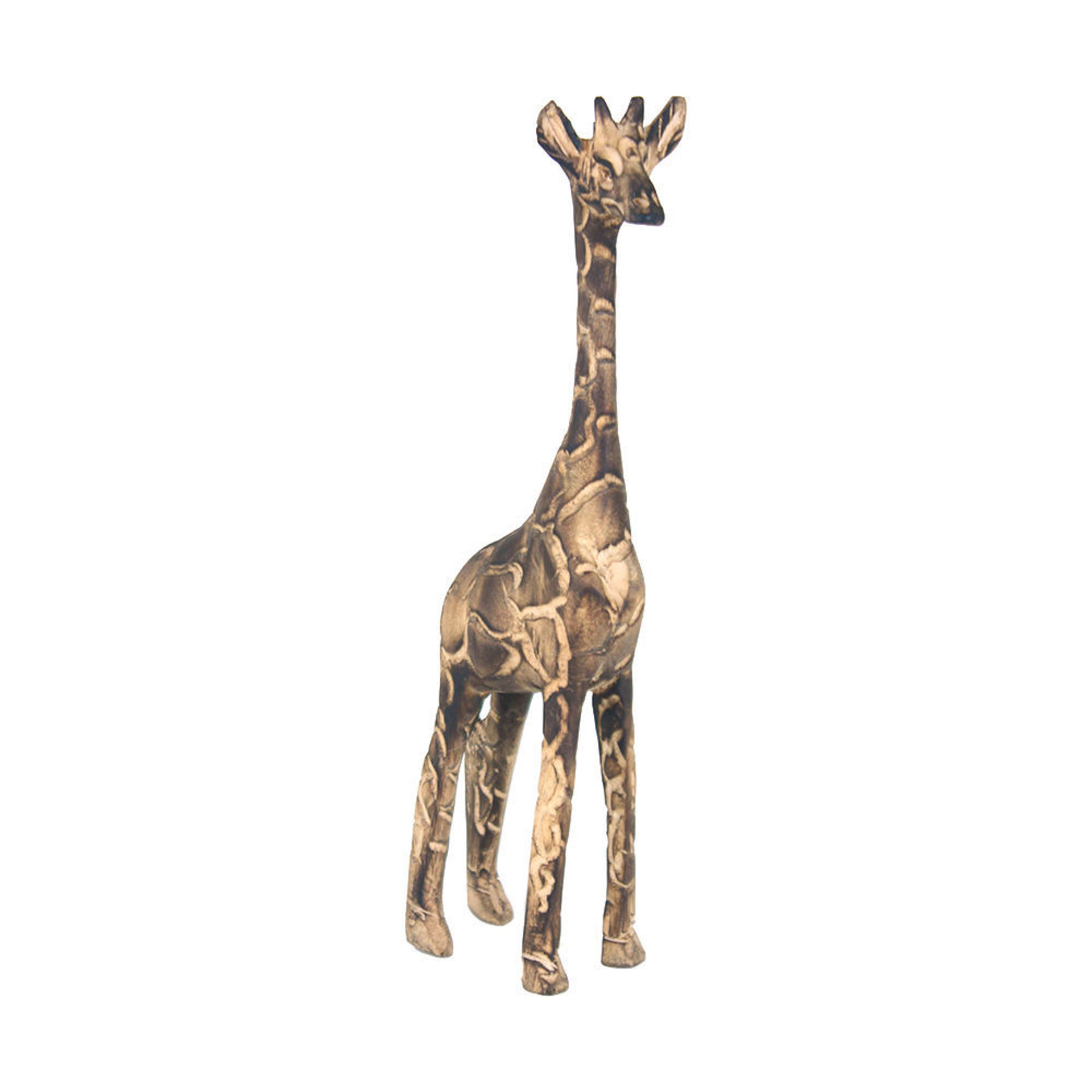 Picture of Fire Blackened Wooden Giraffe