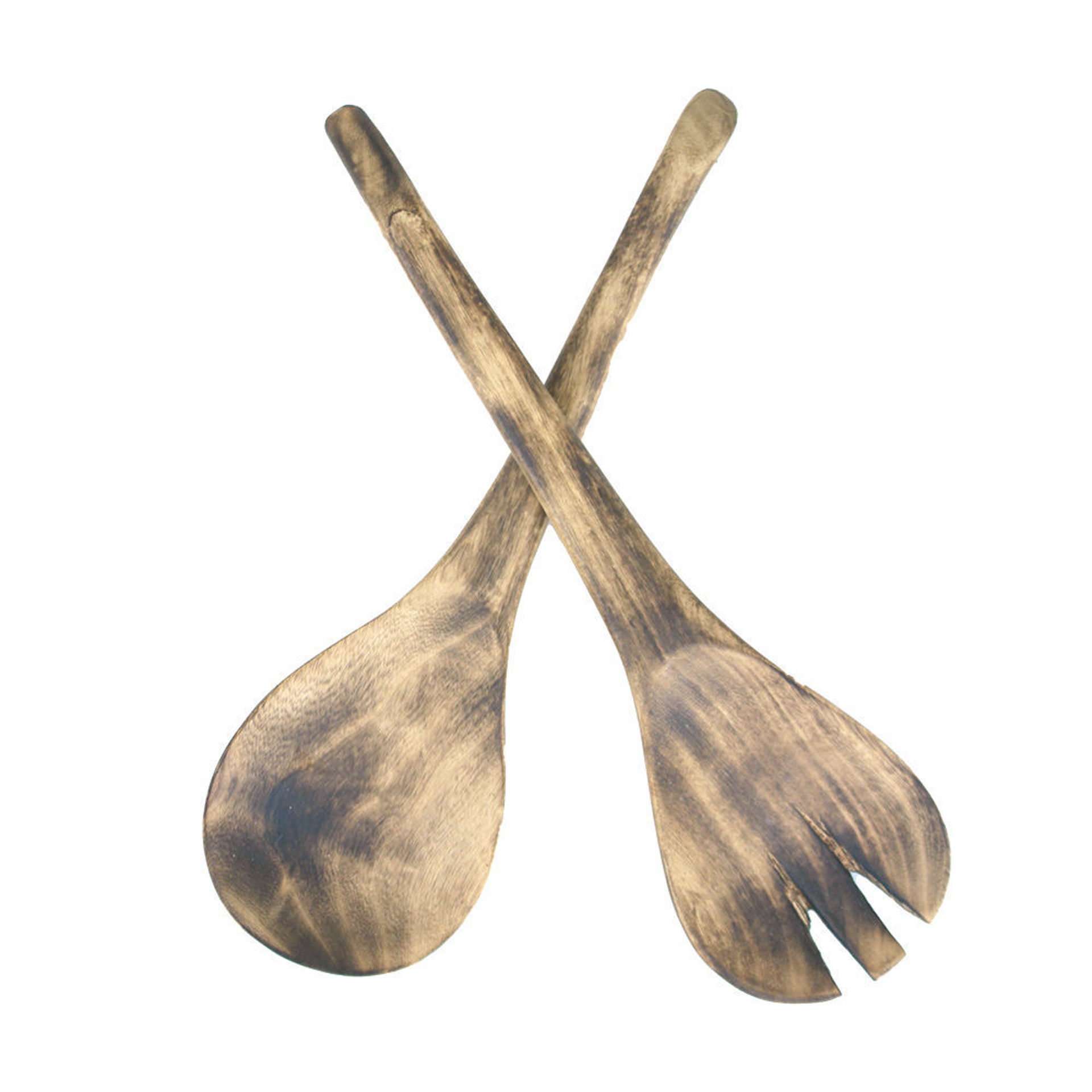 Picture of Natural Wood Salad Set
