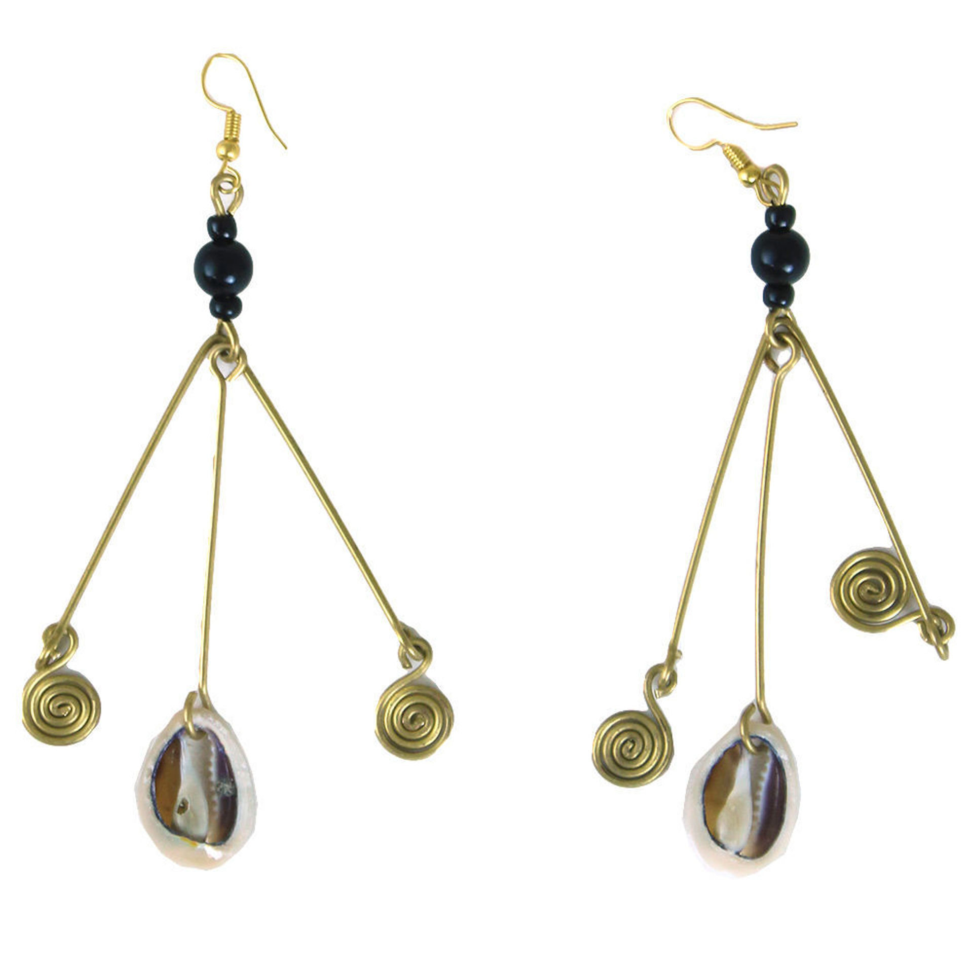 Picture of Spiral & Shell Dangle Earrings