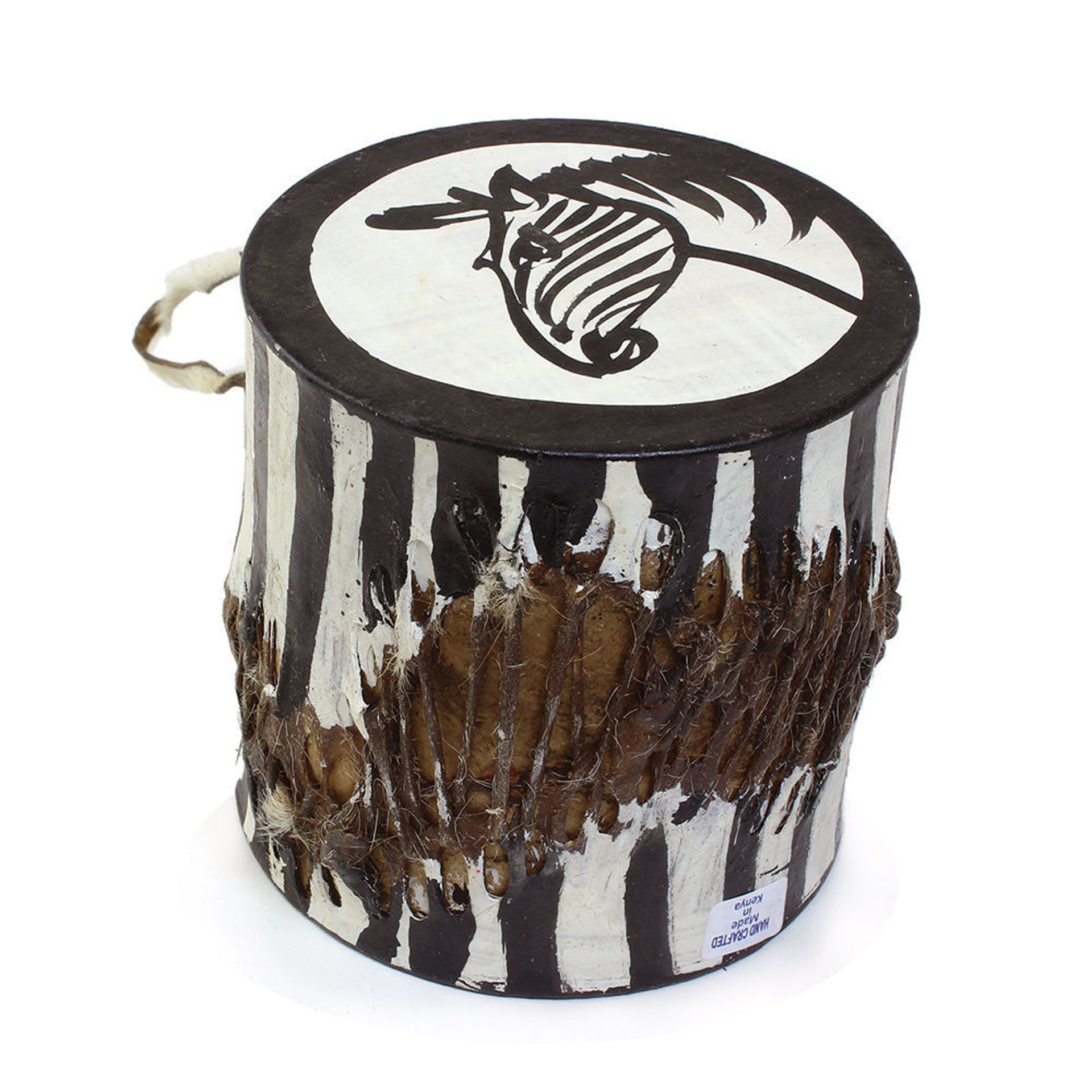 Picture of Small African Drum: Zebra