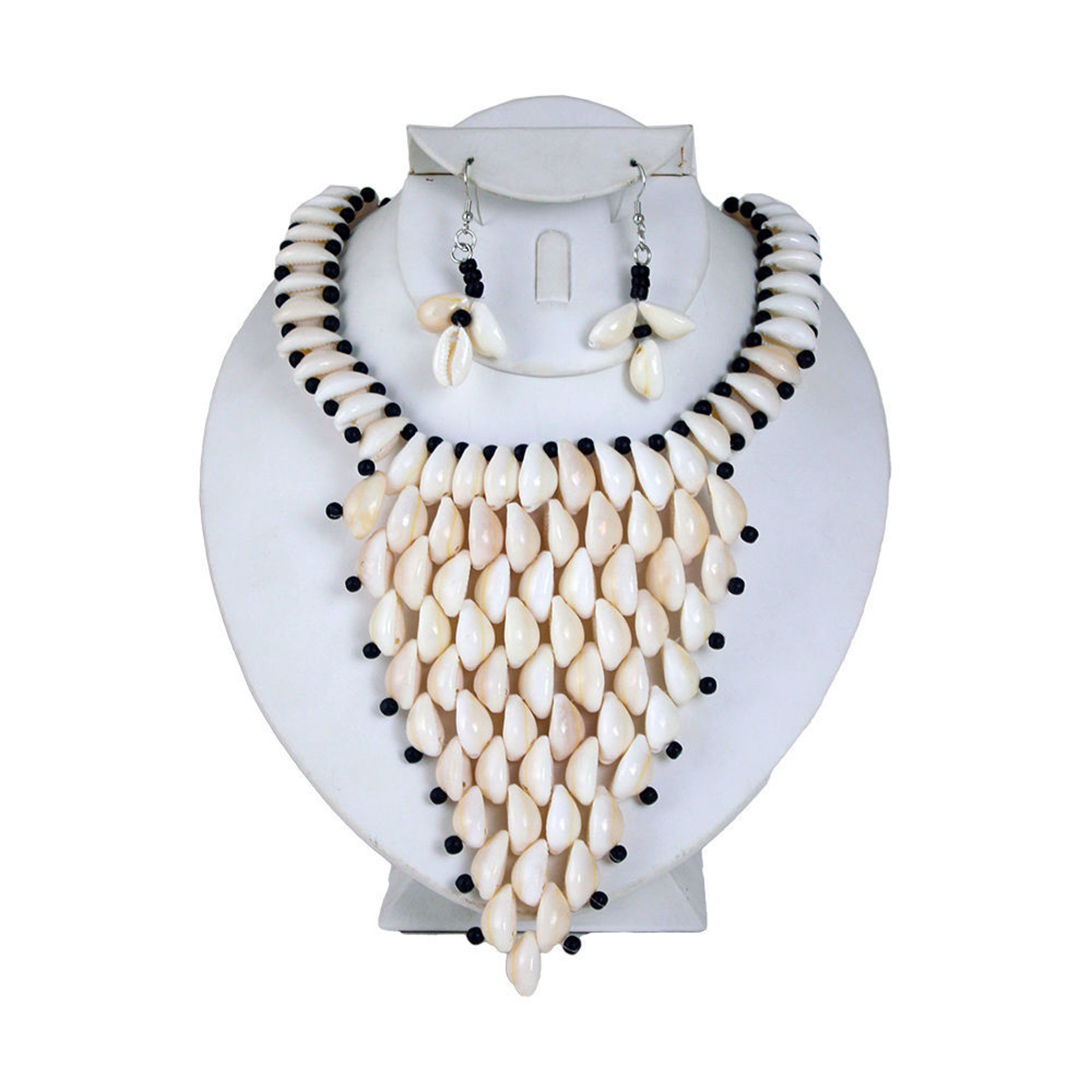 Picture of Cowrie Shell Necklace & Earrings Style-C