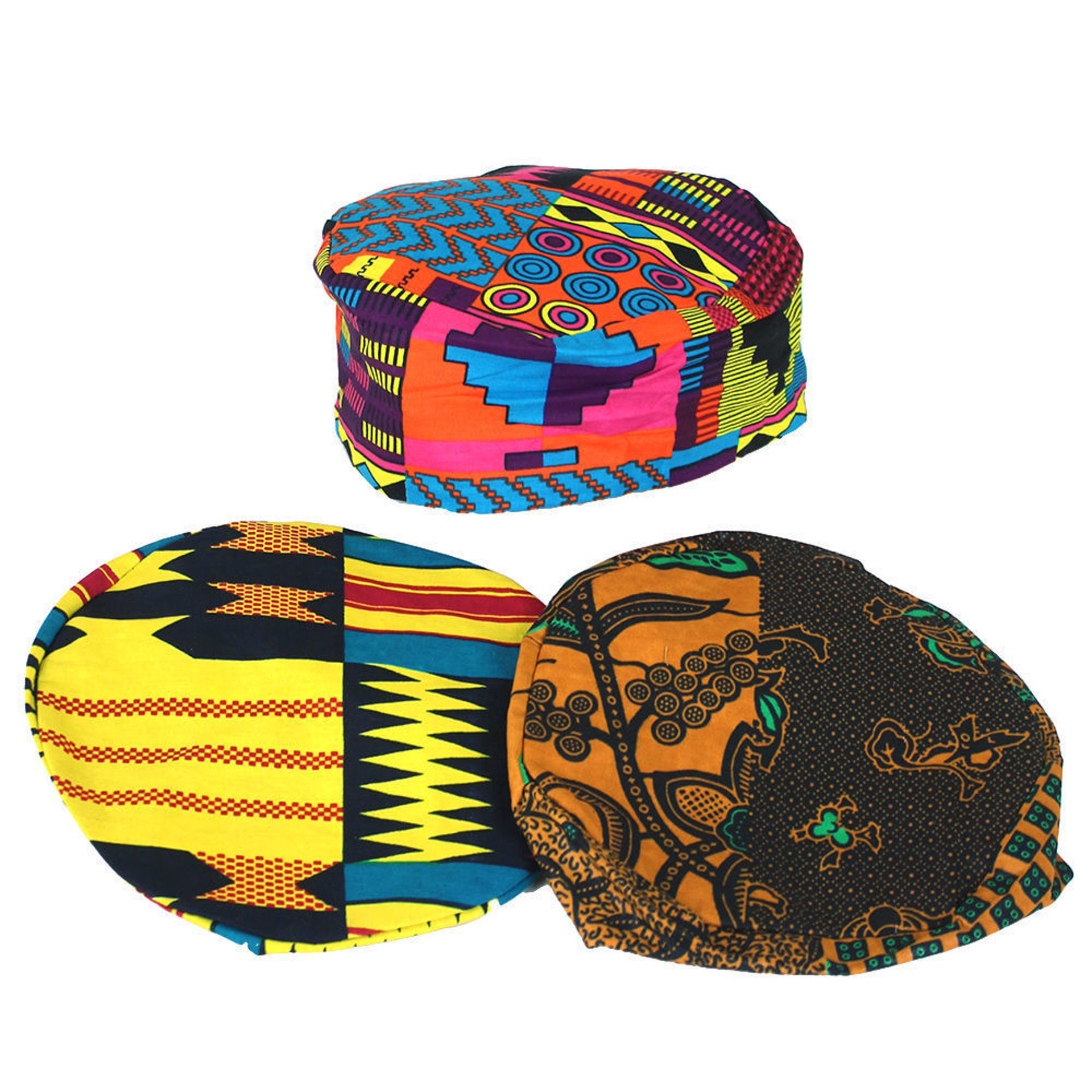 Picture of Set Of 3 ASSORTED Afrocentric Kufi Hats