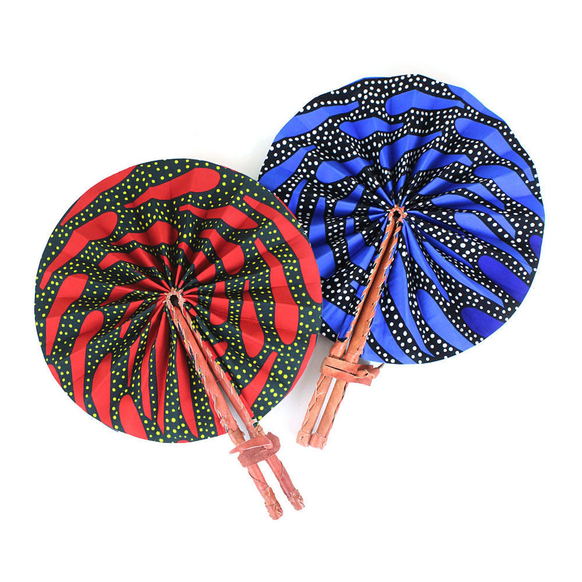 Picture of Dot Print Folding Fan