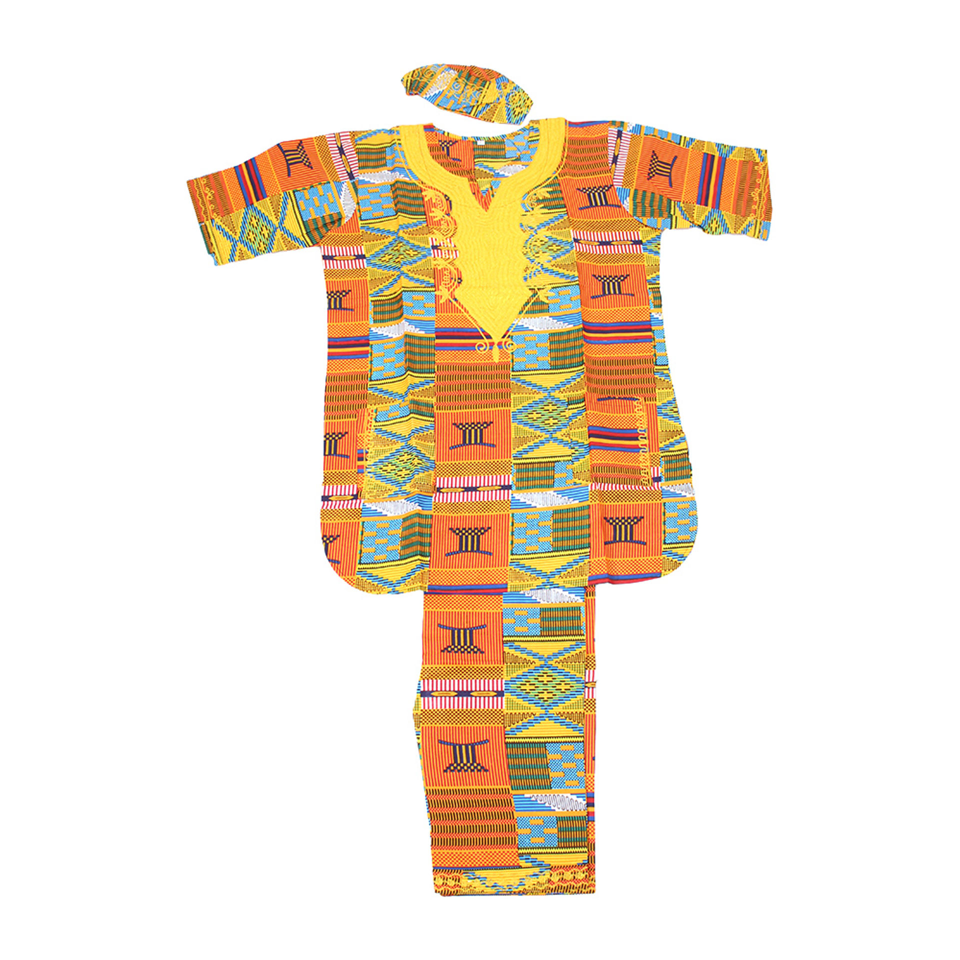 Picture of Embroidered Kente Pant Set