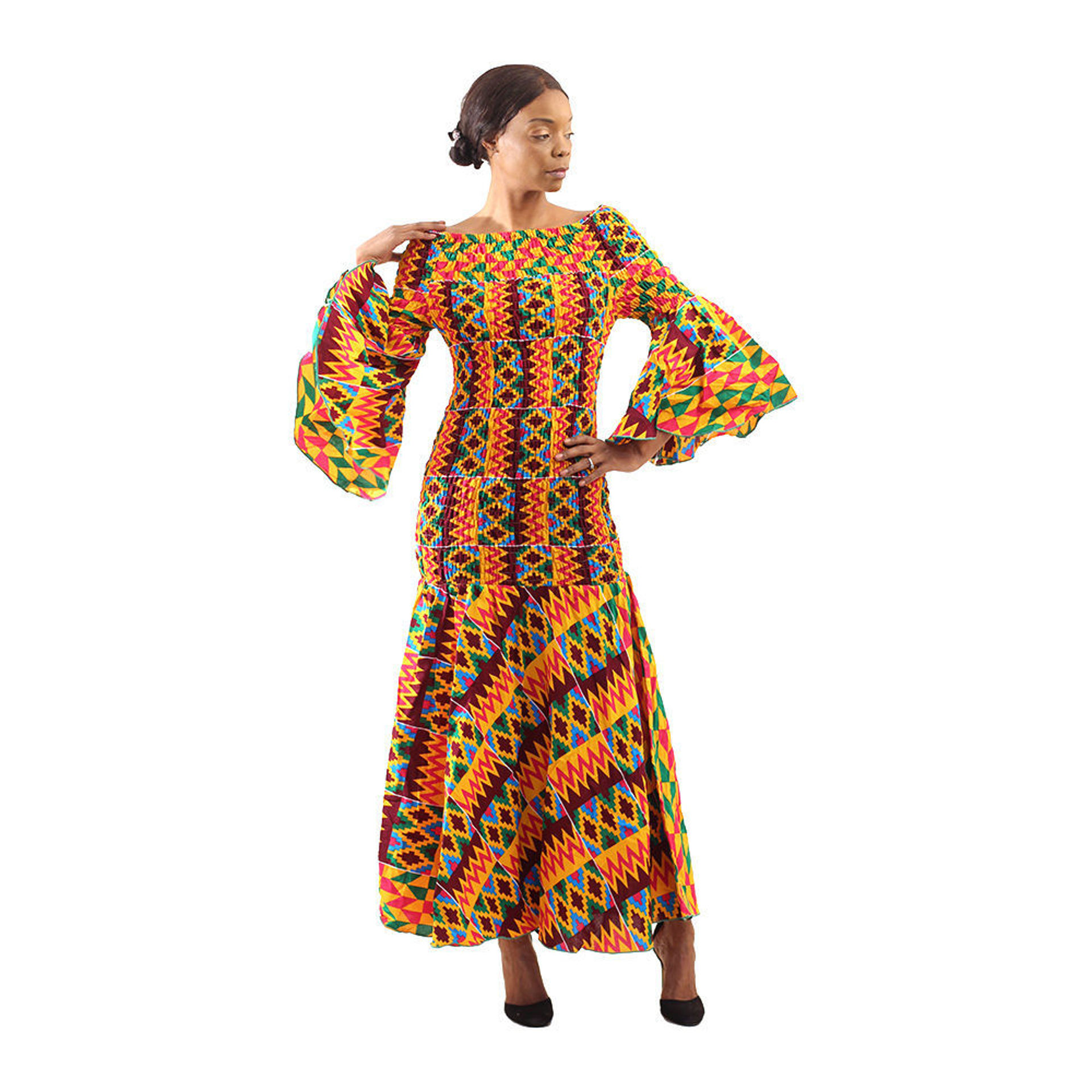 Picture of African-Made Bold Kente Gown