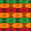 Picture of Red/Orange/Green Mud Print Fabric