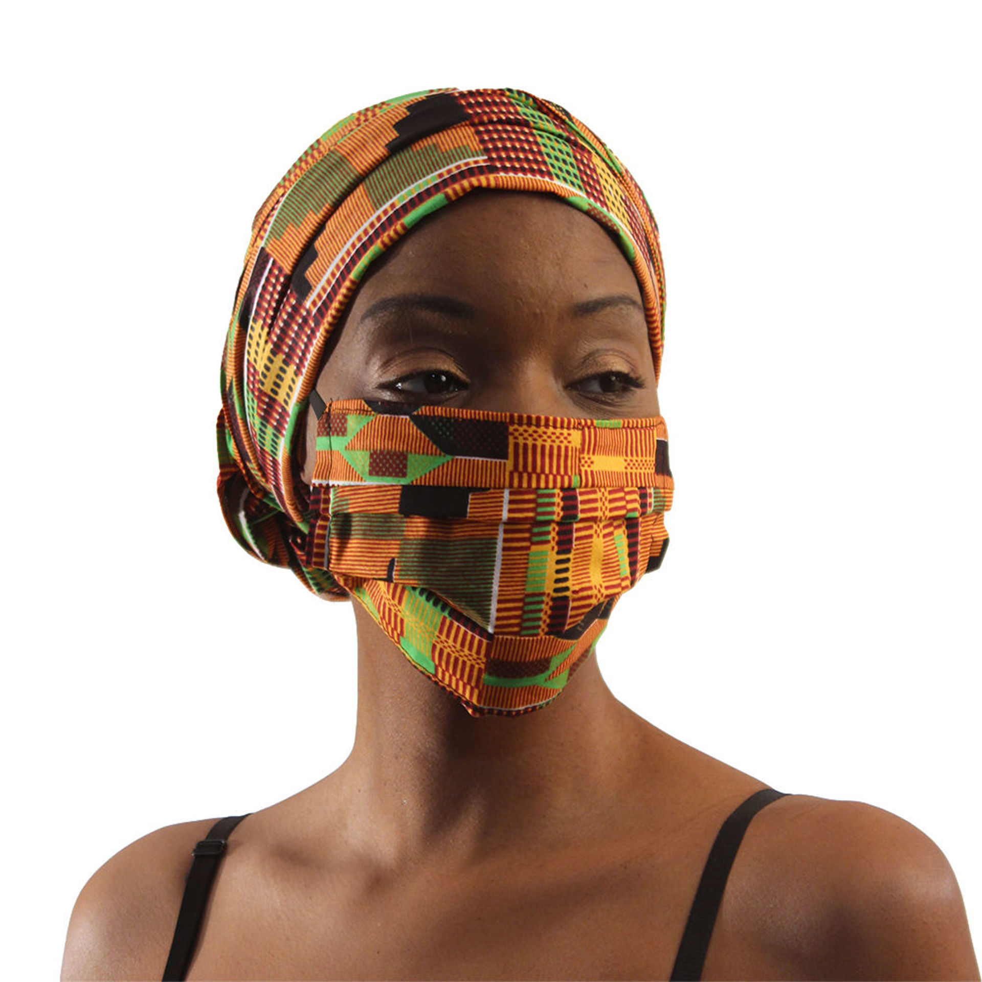Picture of Kente Mask & Headwrap Set