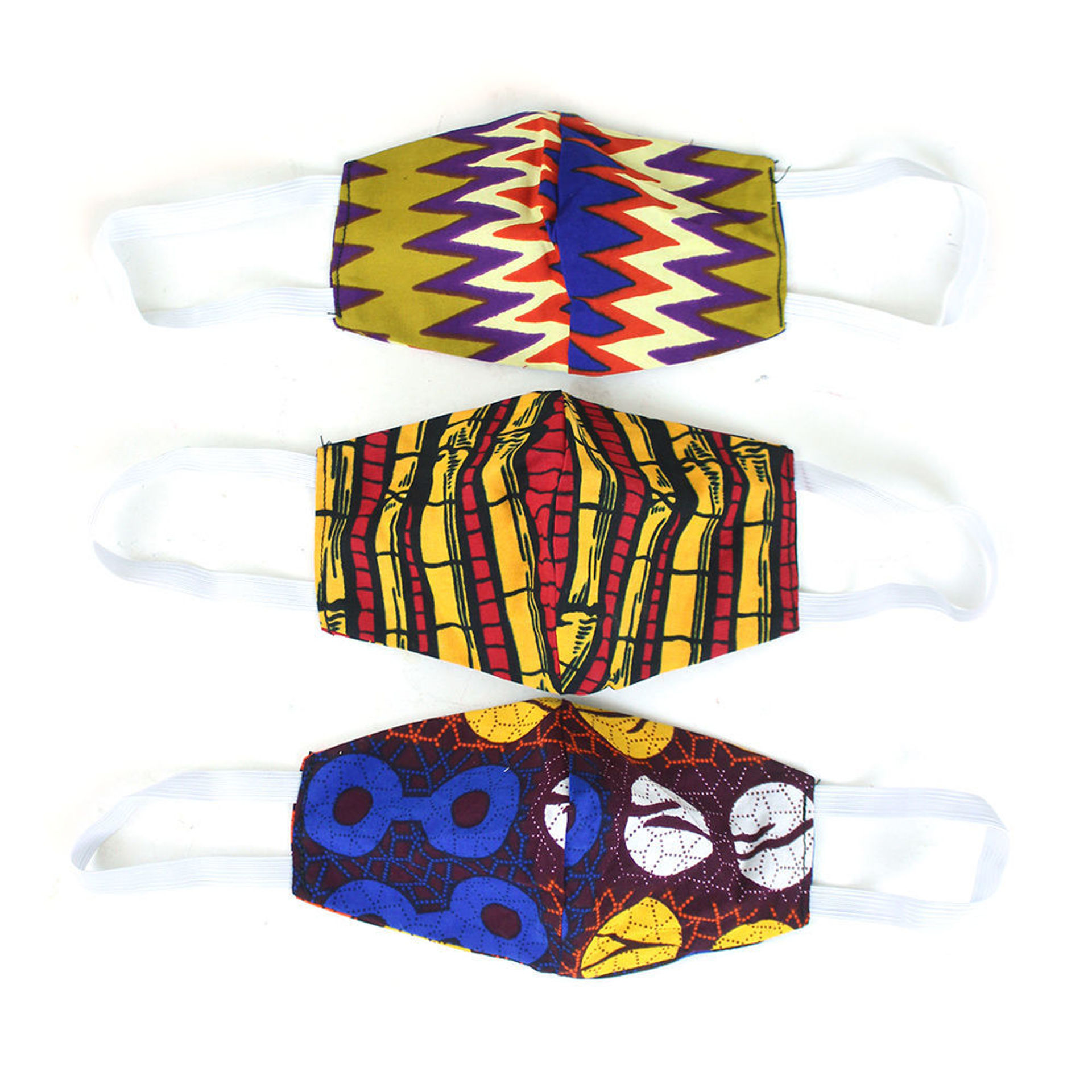 Picture of Set Of 3 Ghanaian Face Masks