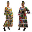 Picture of Patchwork Print Gown w/Lace