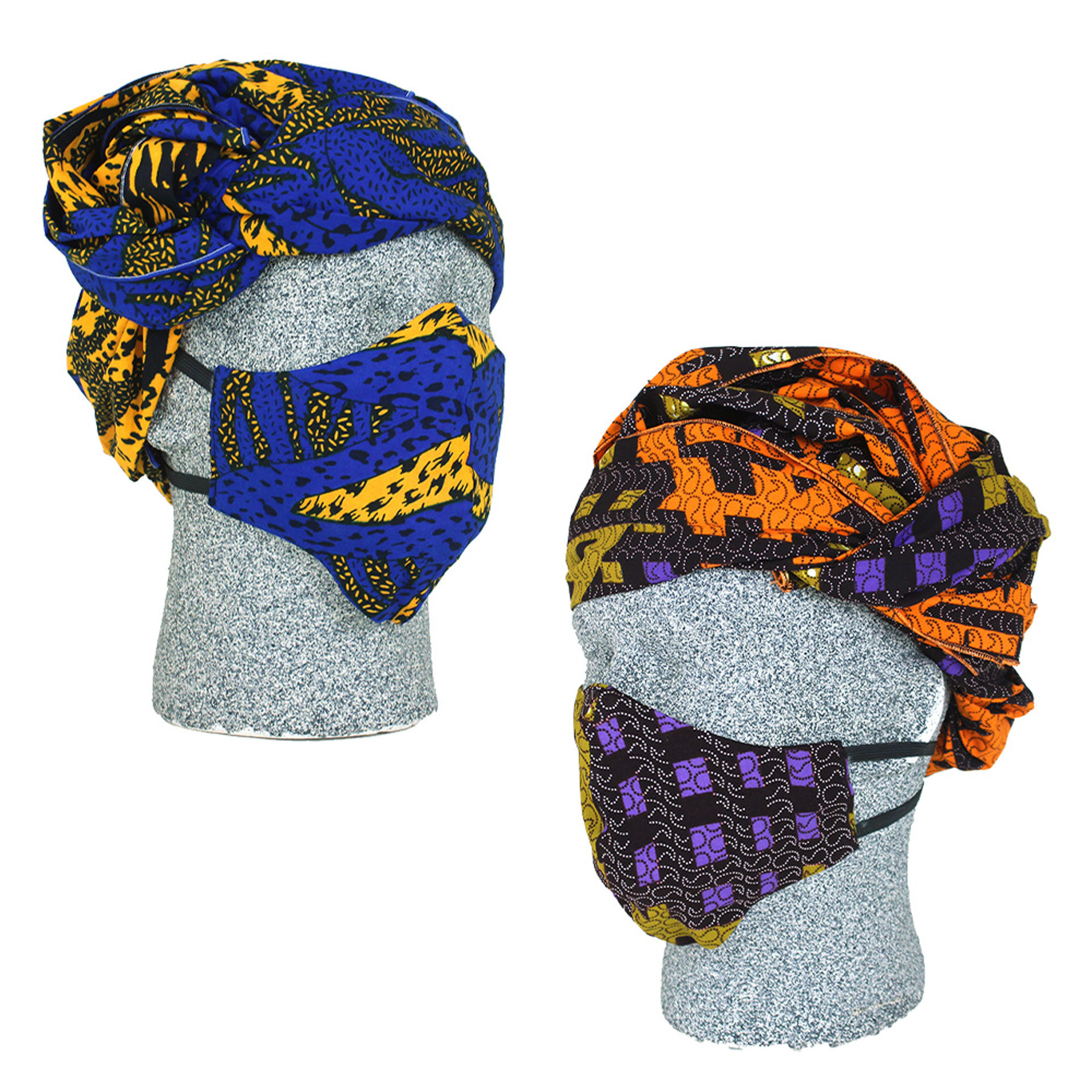 Picture of African Print Face Mask & Headwrap