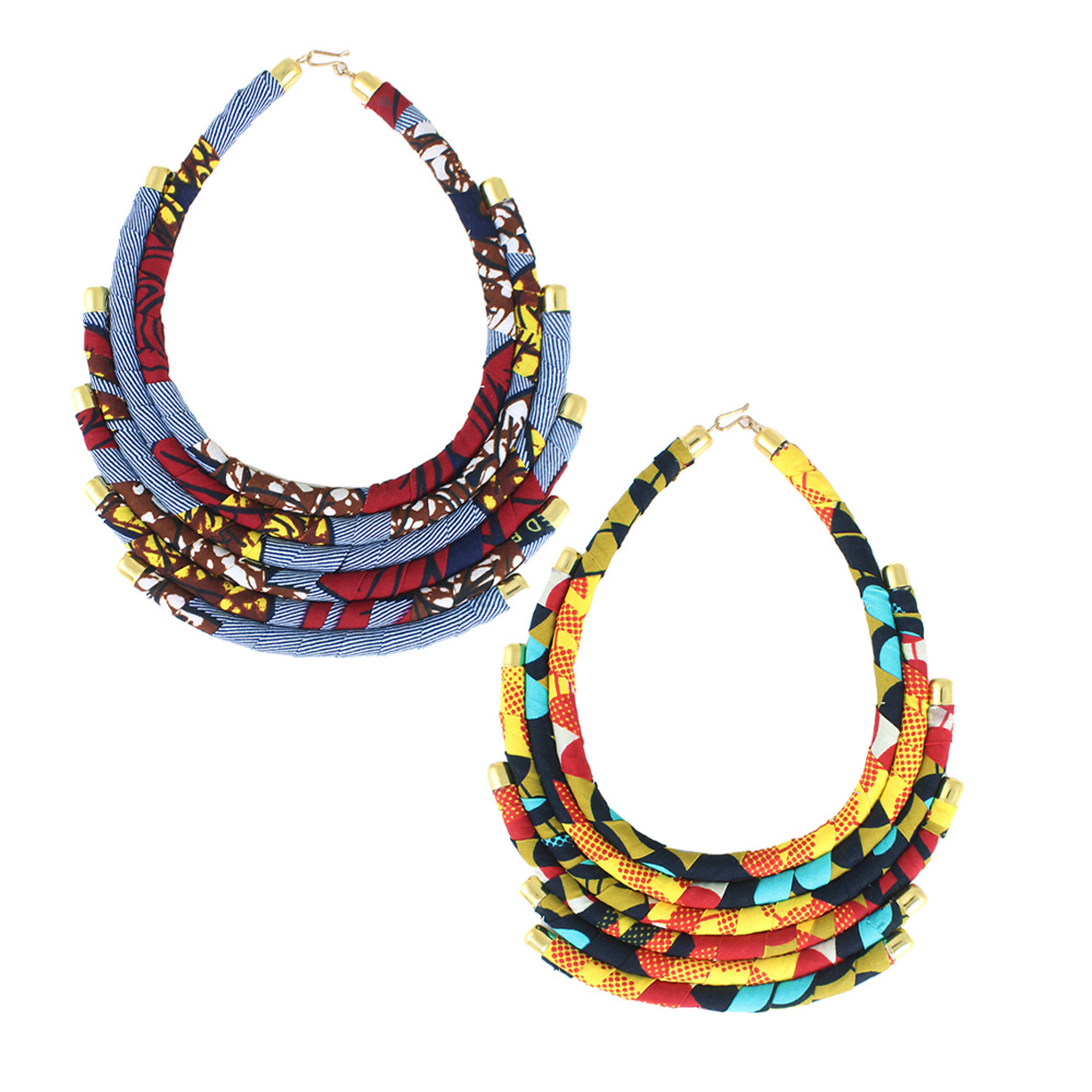 Picture of 6-Tier Kitenge Necklace