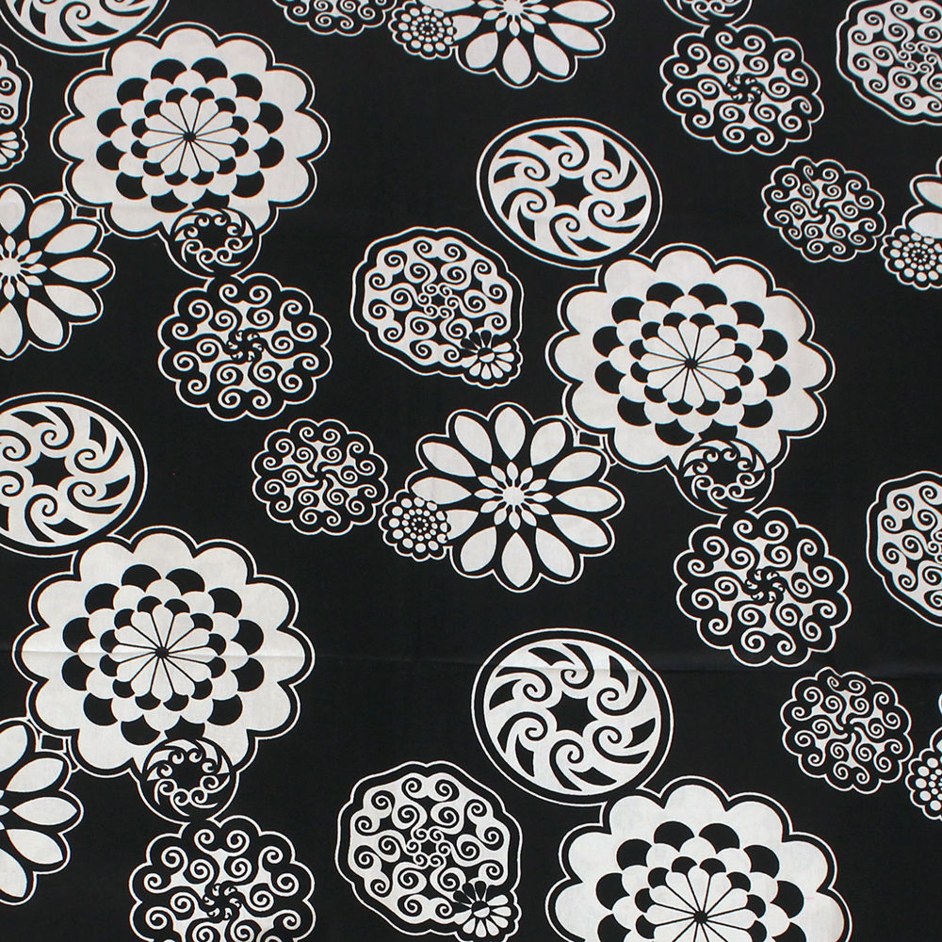 Picture of Black & White Patchwork Print-B Fabric