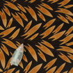 Picture of Black & Brown Leaf Print Fabric