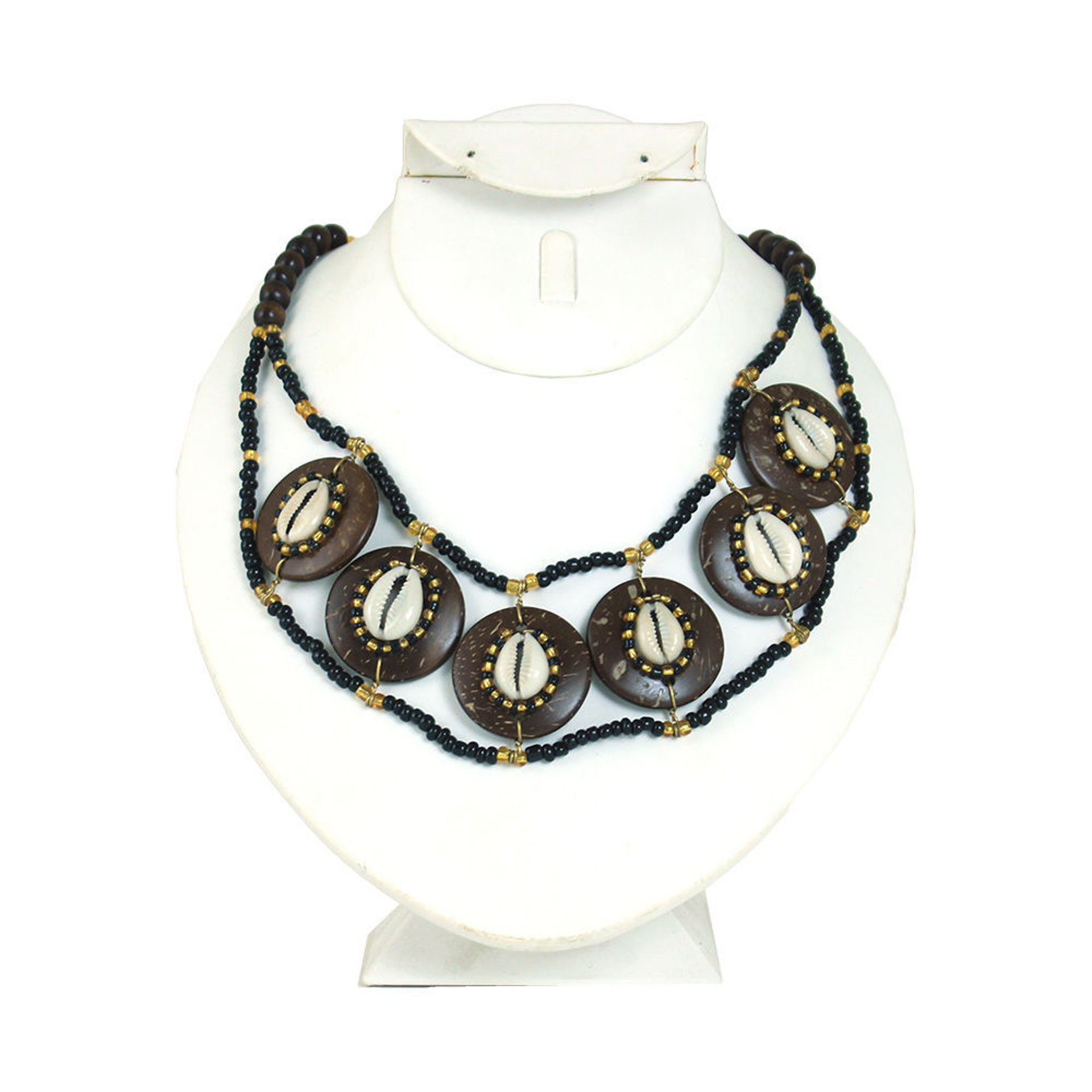 Picture of Bone Disc Cowrie Shell Choker