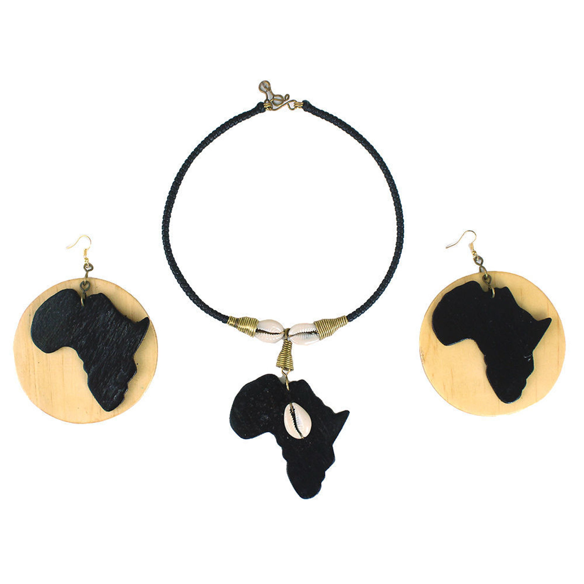 Picture of Africa Map Necklace & Earrings Set