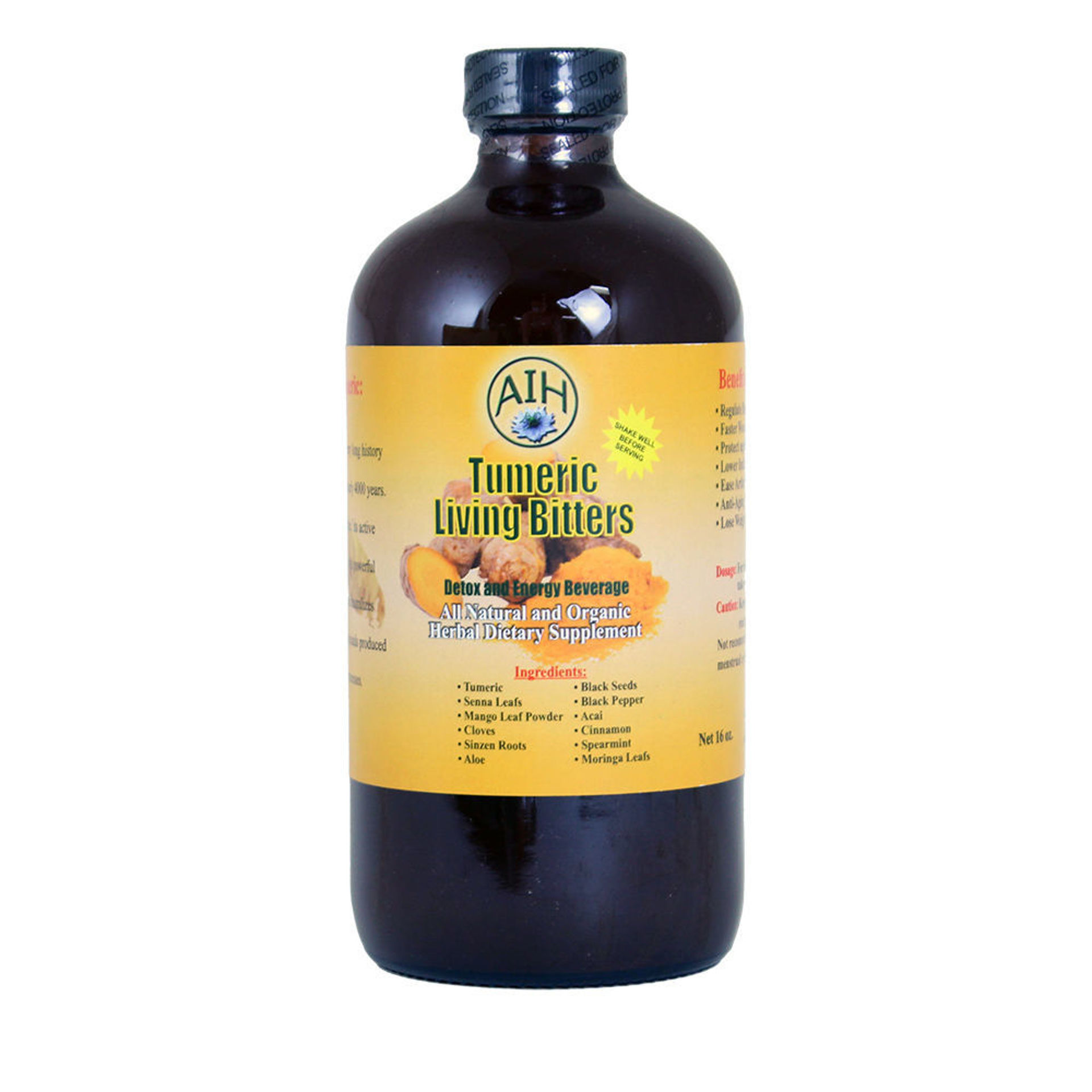 Picture of AIH Turmeric Living Bitters - 16 oz.