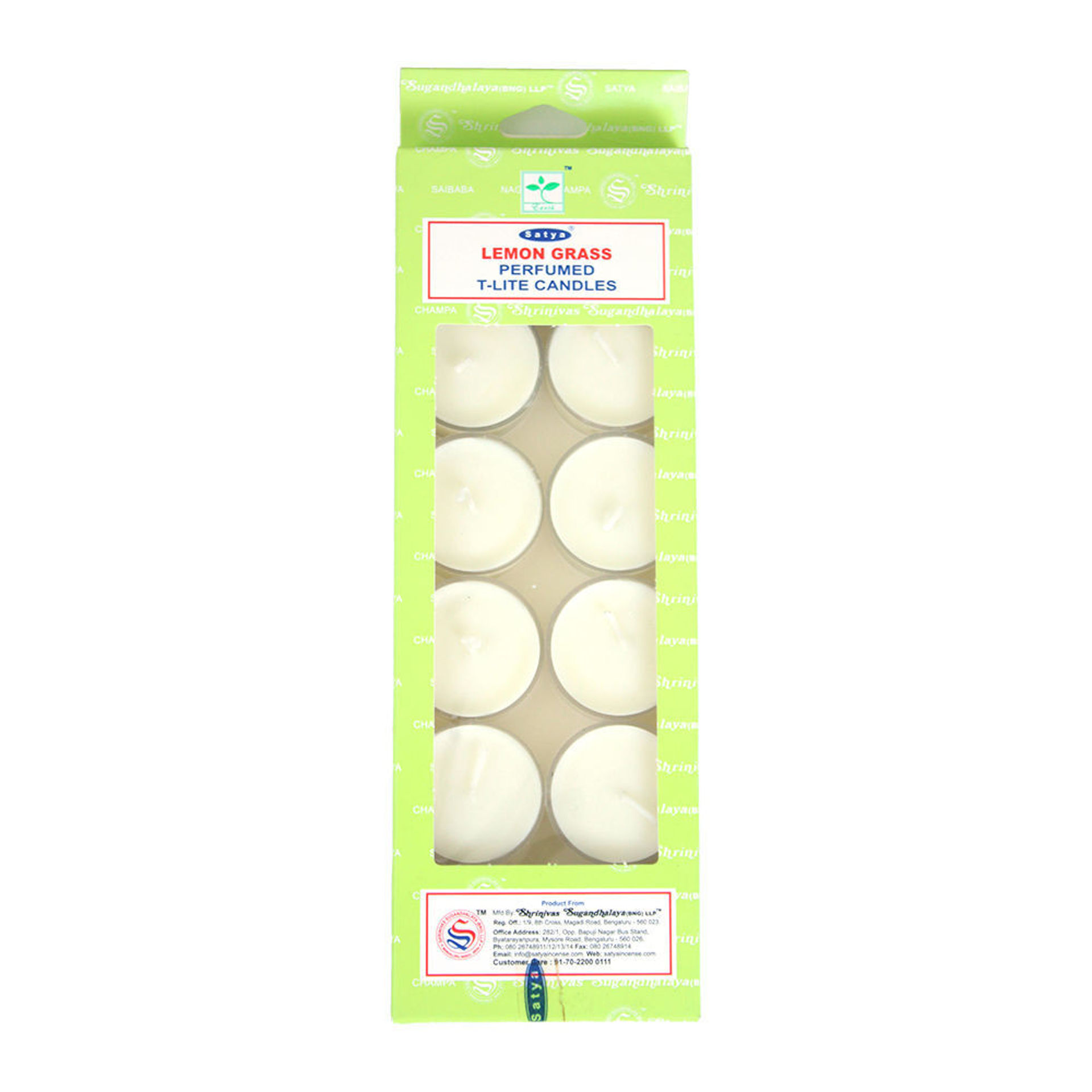 Picture of Lemongrass Tea Light Candles - Set Of 12