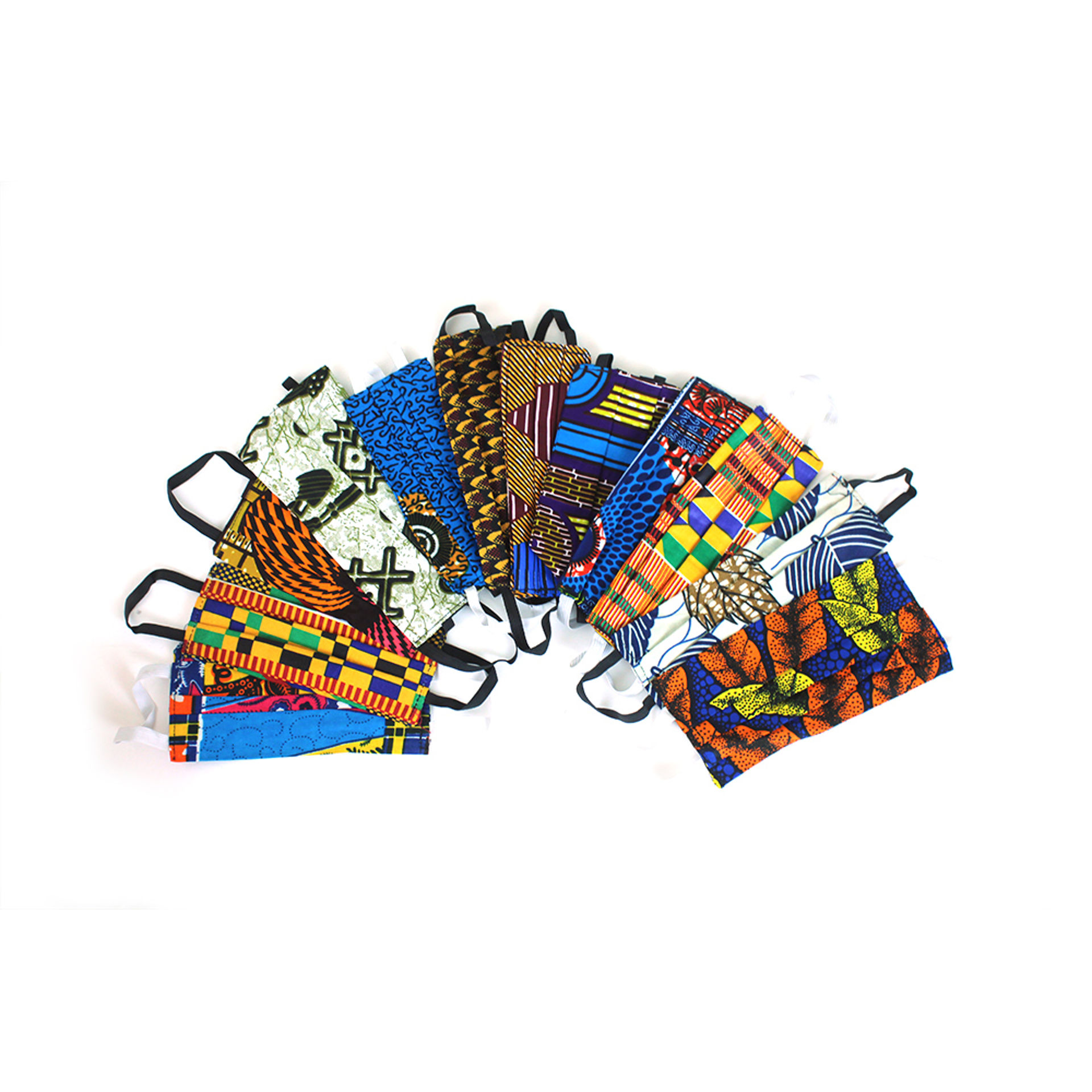 Picture of Set Of 12 Children's Ghanaian Face Masks