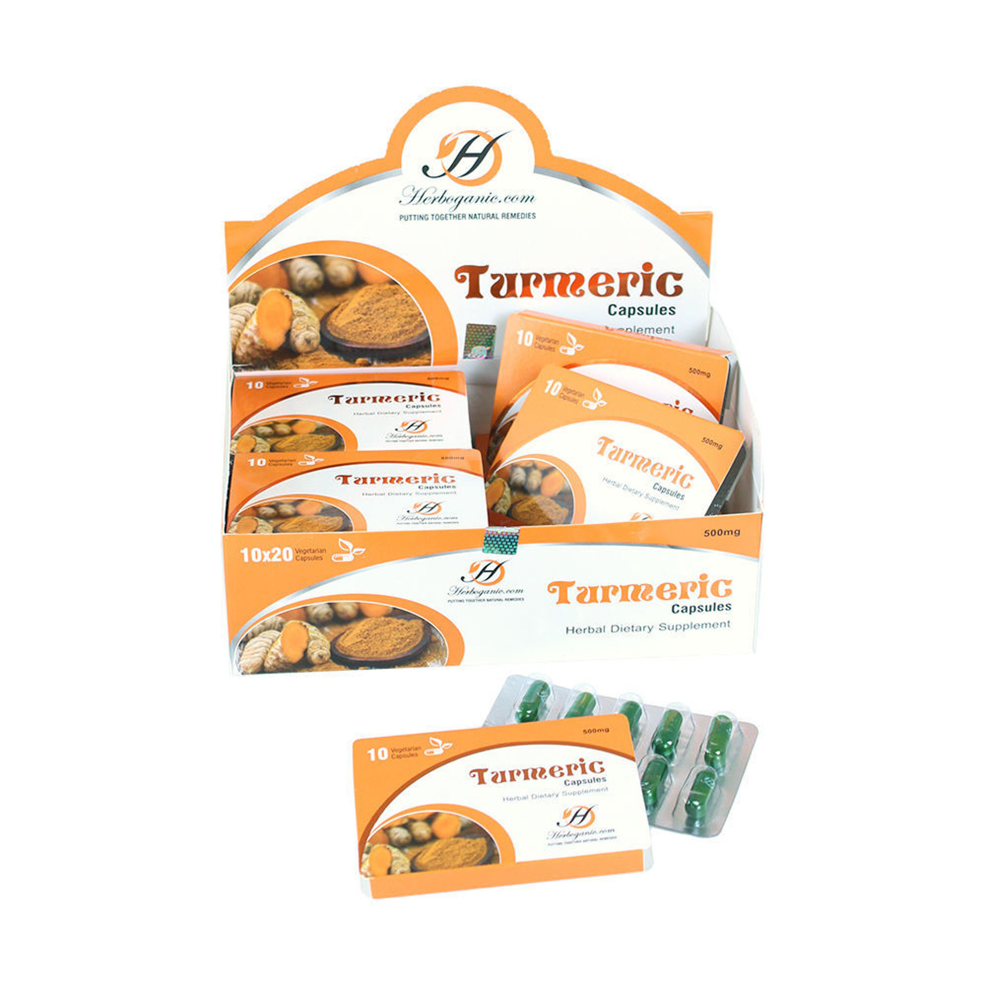 Picture of Turmeric Capsules - 20 Blister Packs
